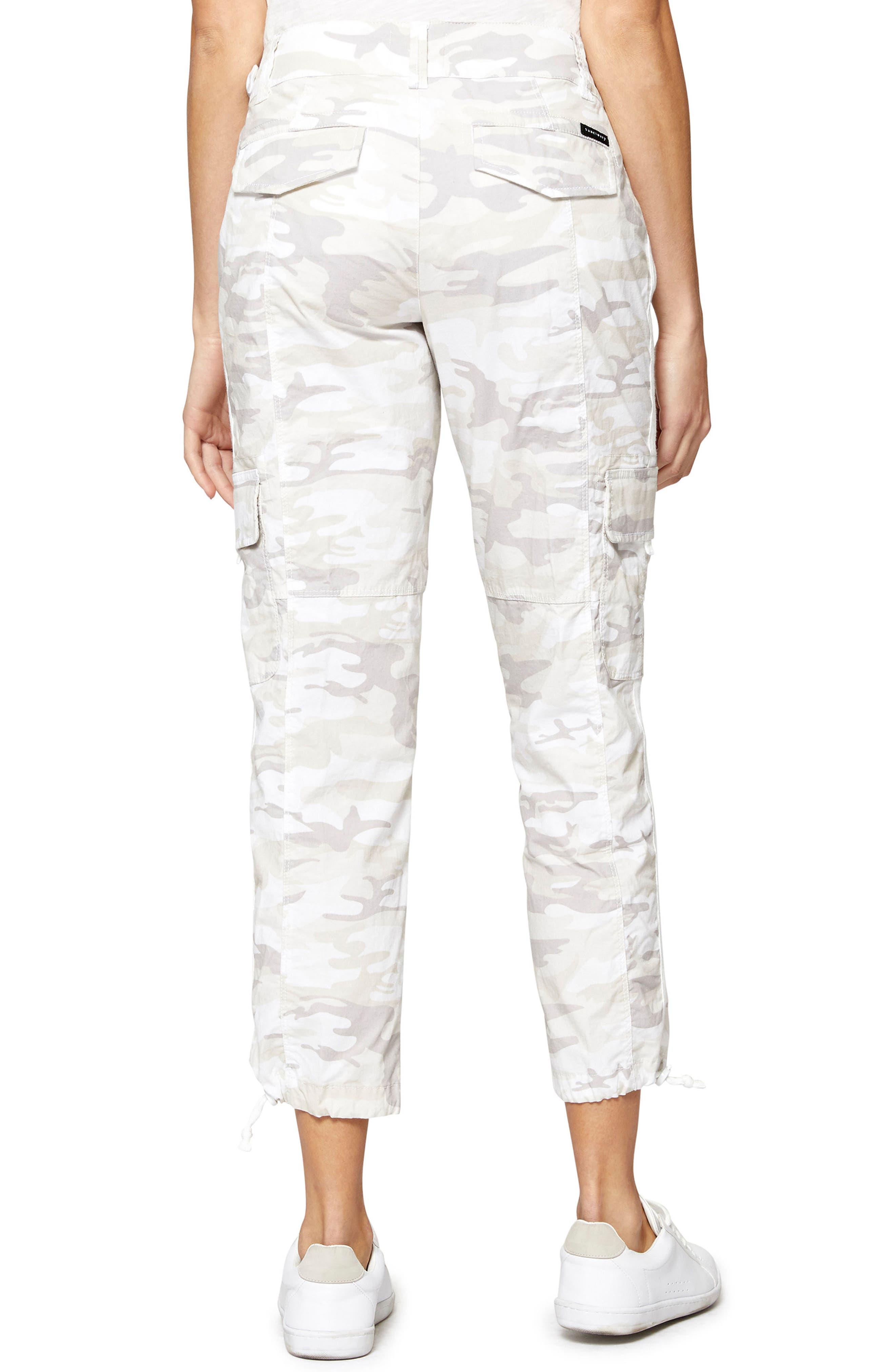 Terrain Linen Crop Cargo Pants,                             Alternate thumbnail 14, color,