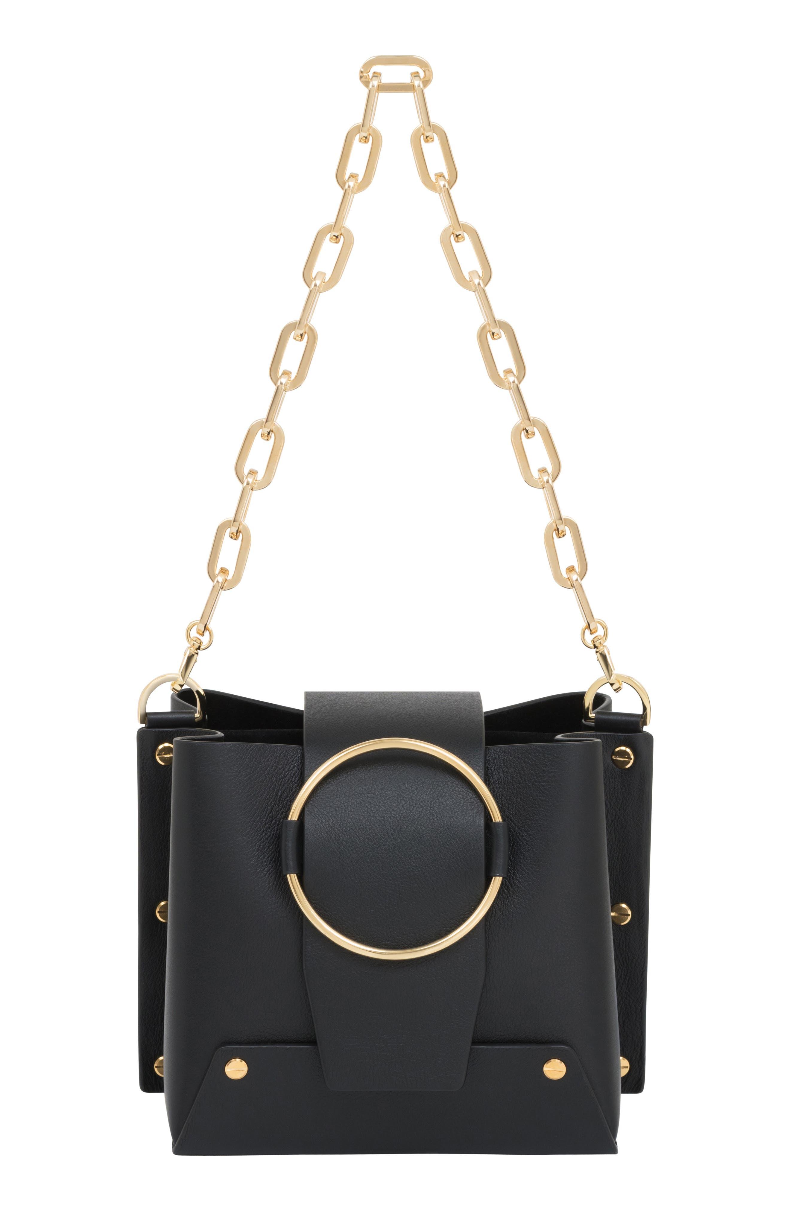 Delia Bucket Bag,                         Main,                         color, NERO