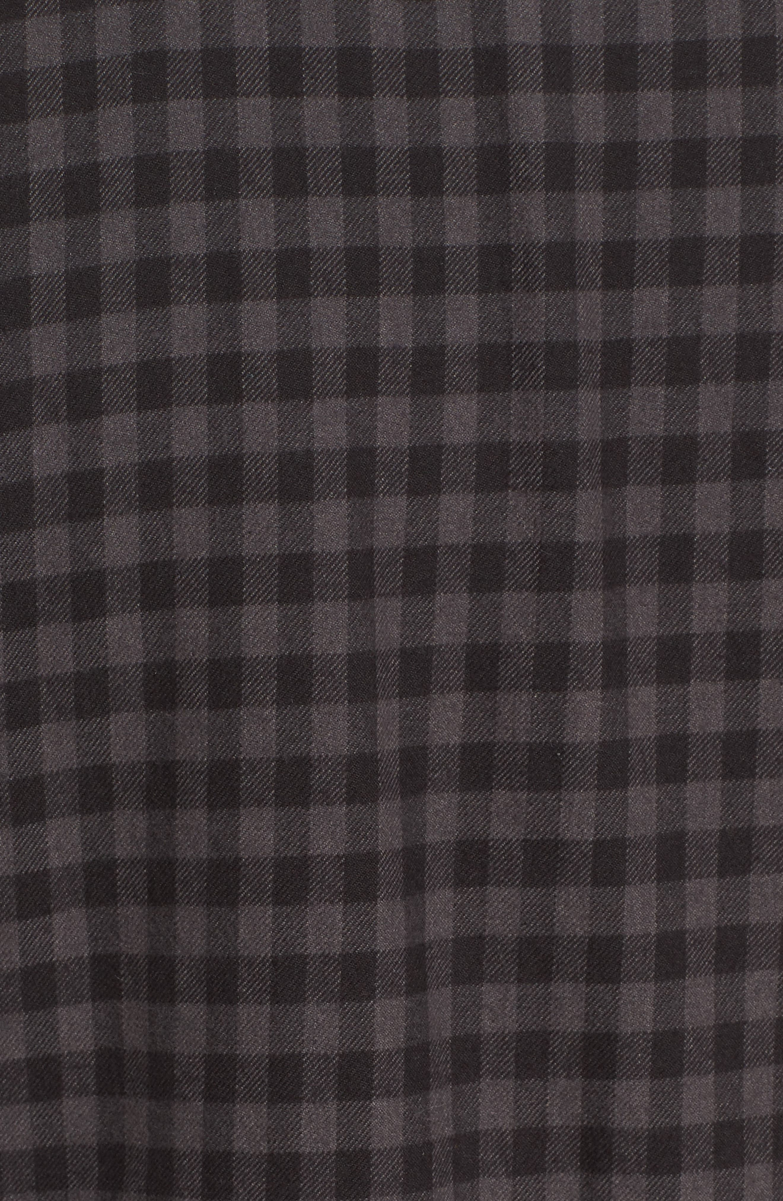 Gronk Lined Flannel Shirt,                             Alternate thumbnail 5, color,                             001