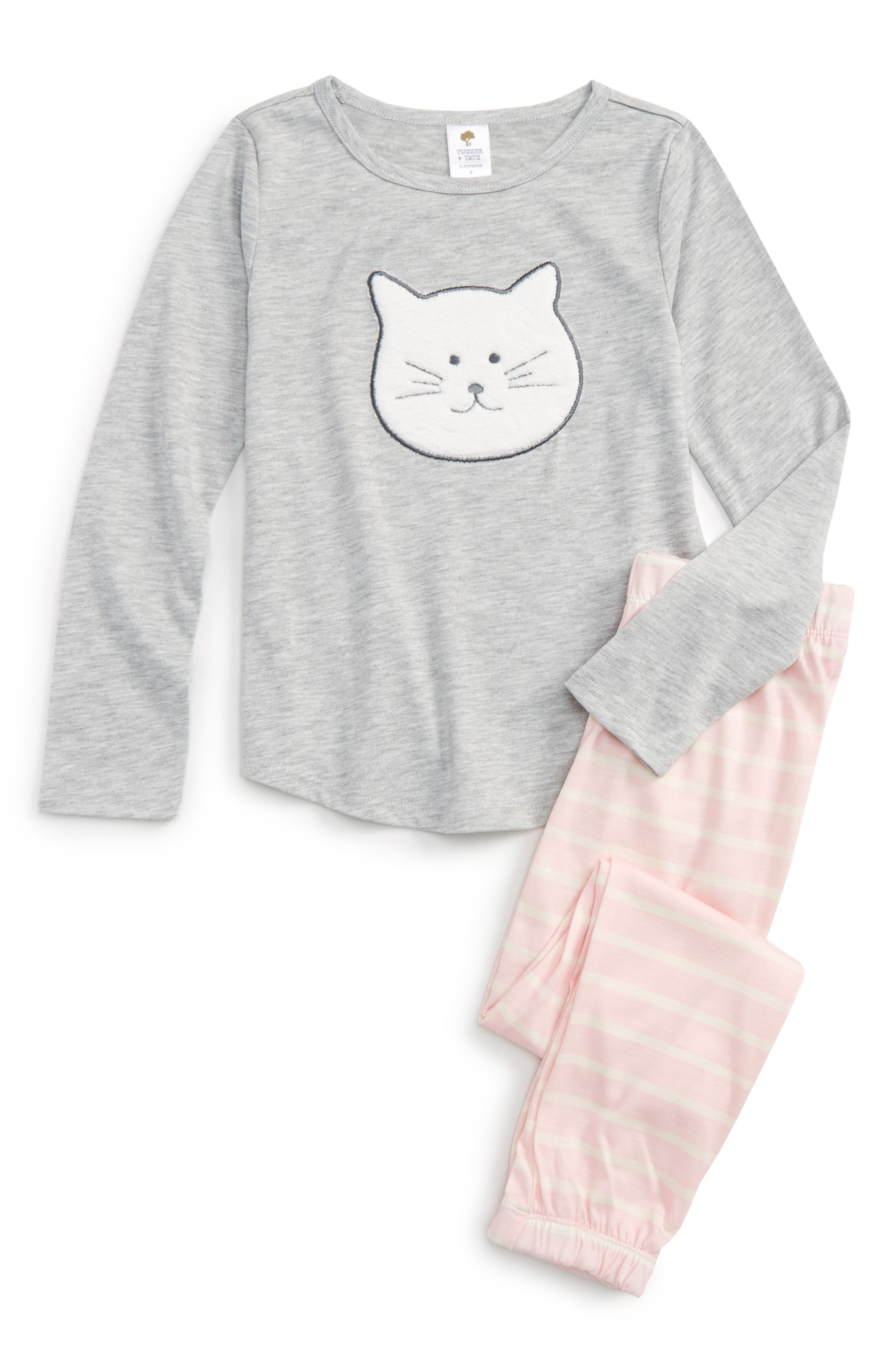 Appliqué Fitted Two-Piece Pajamas,                             Main thumbnail 1, color,                             050