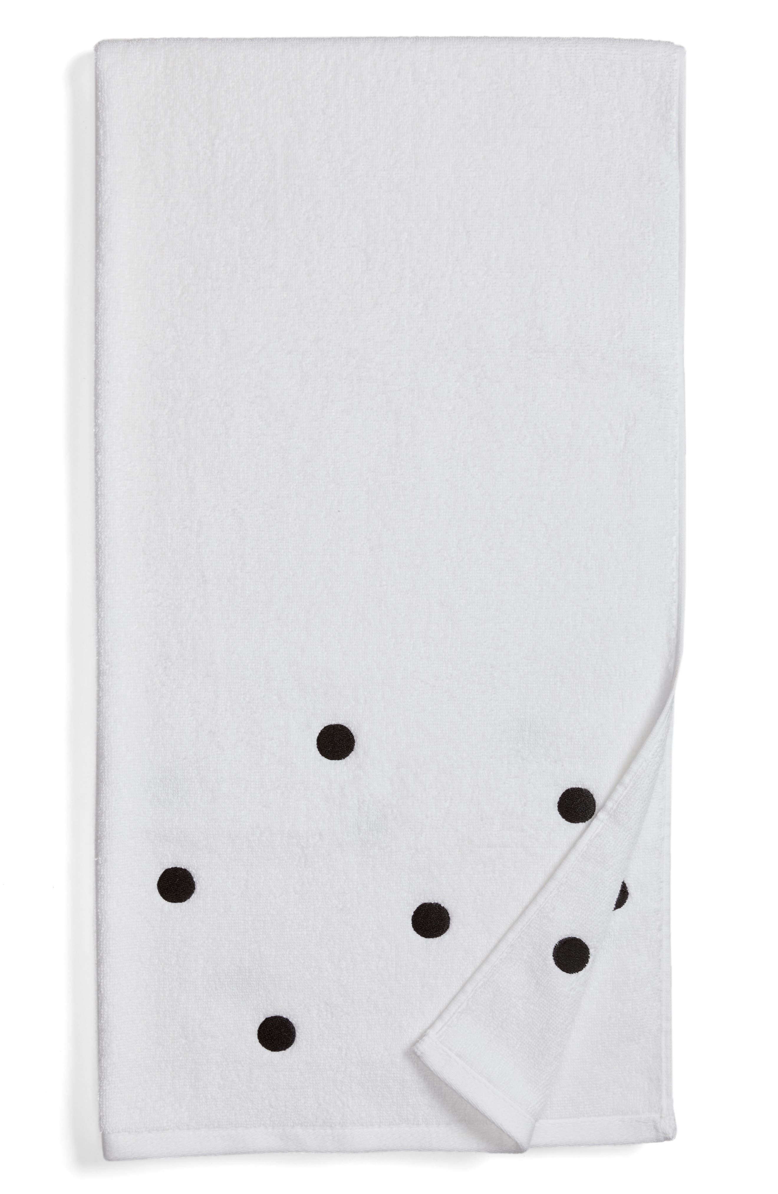 deco dot bath towel,                         Main,                         color, 001