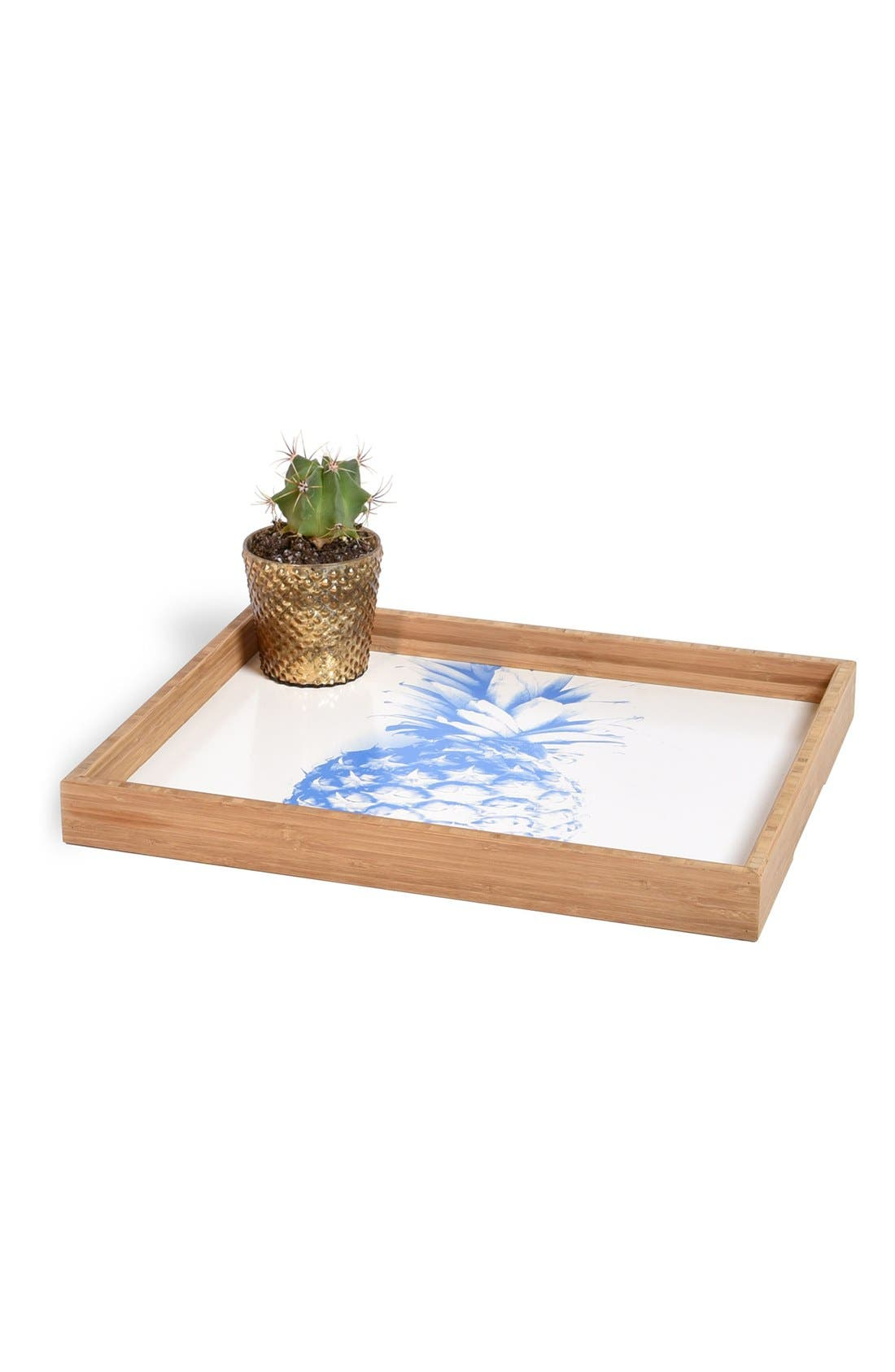 'Pineapple' Decorative Serving Tray,                             Alternate thumbnail 3, color,                             400