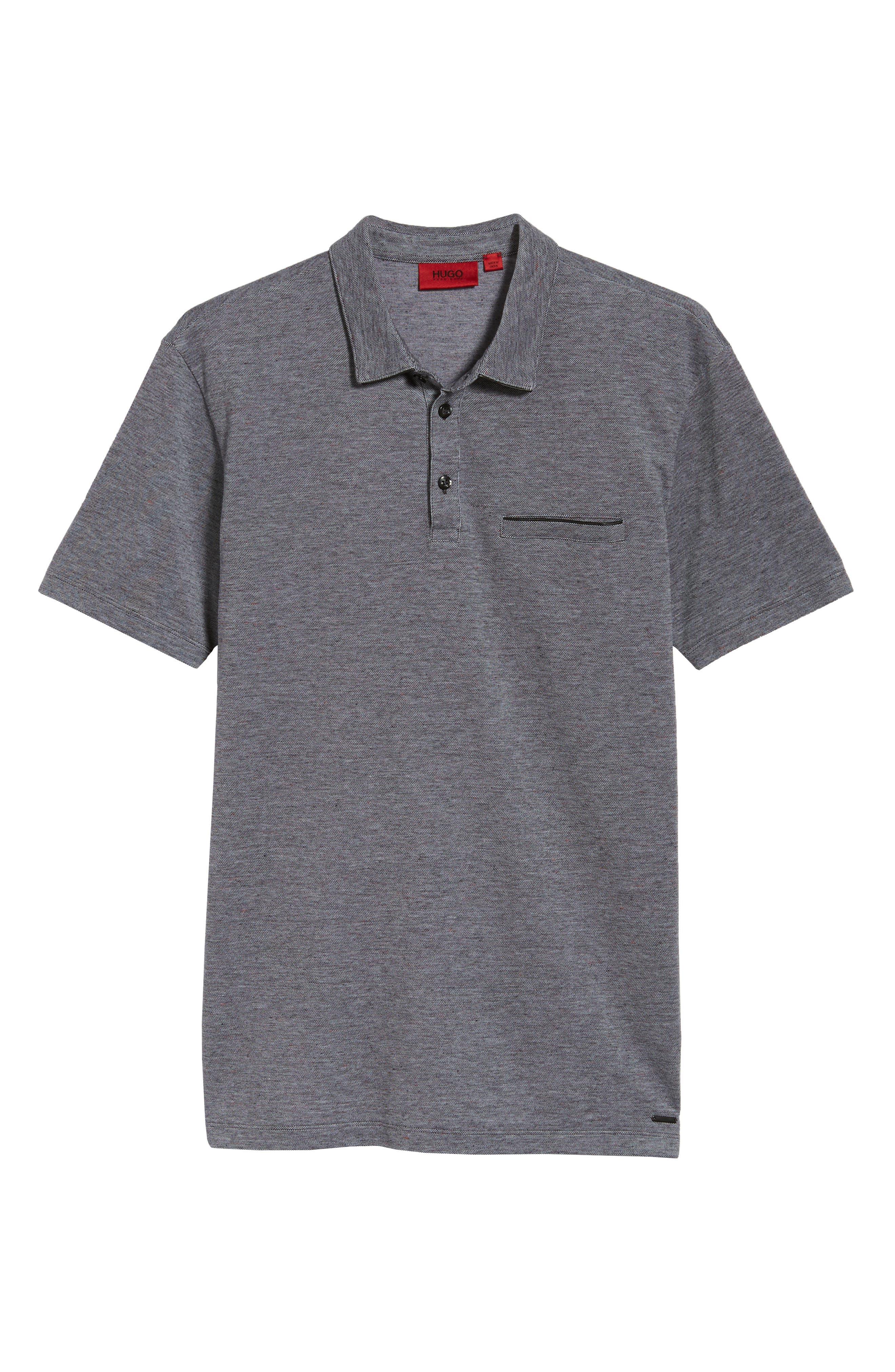 Darrow Cotton Polo Shirt,                             Alternate thumbnail 6, color,                             001