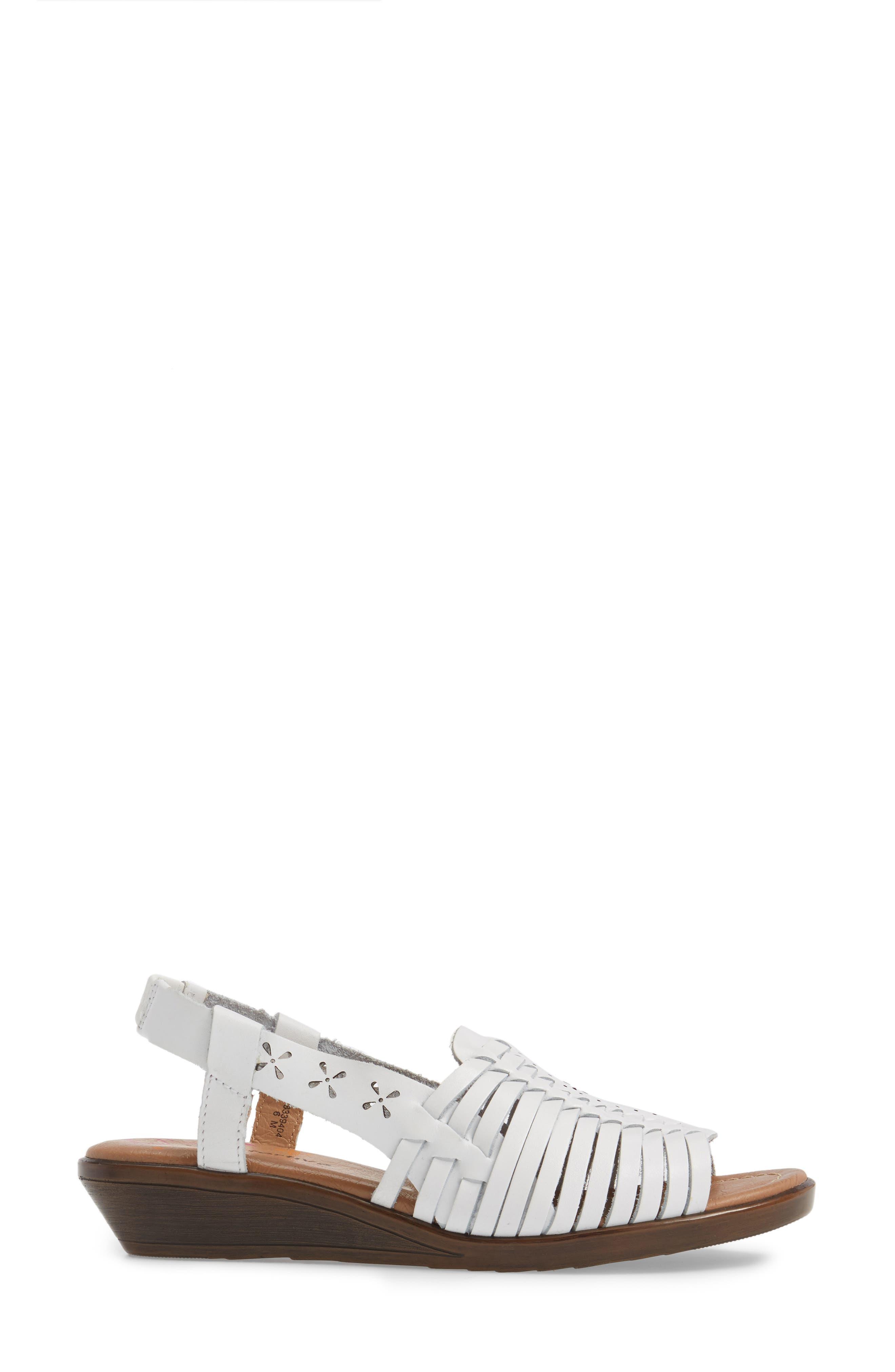 Formasa Huarache Slingback Sandal,                             Alternate thumbnail 3, color,                             100