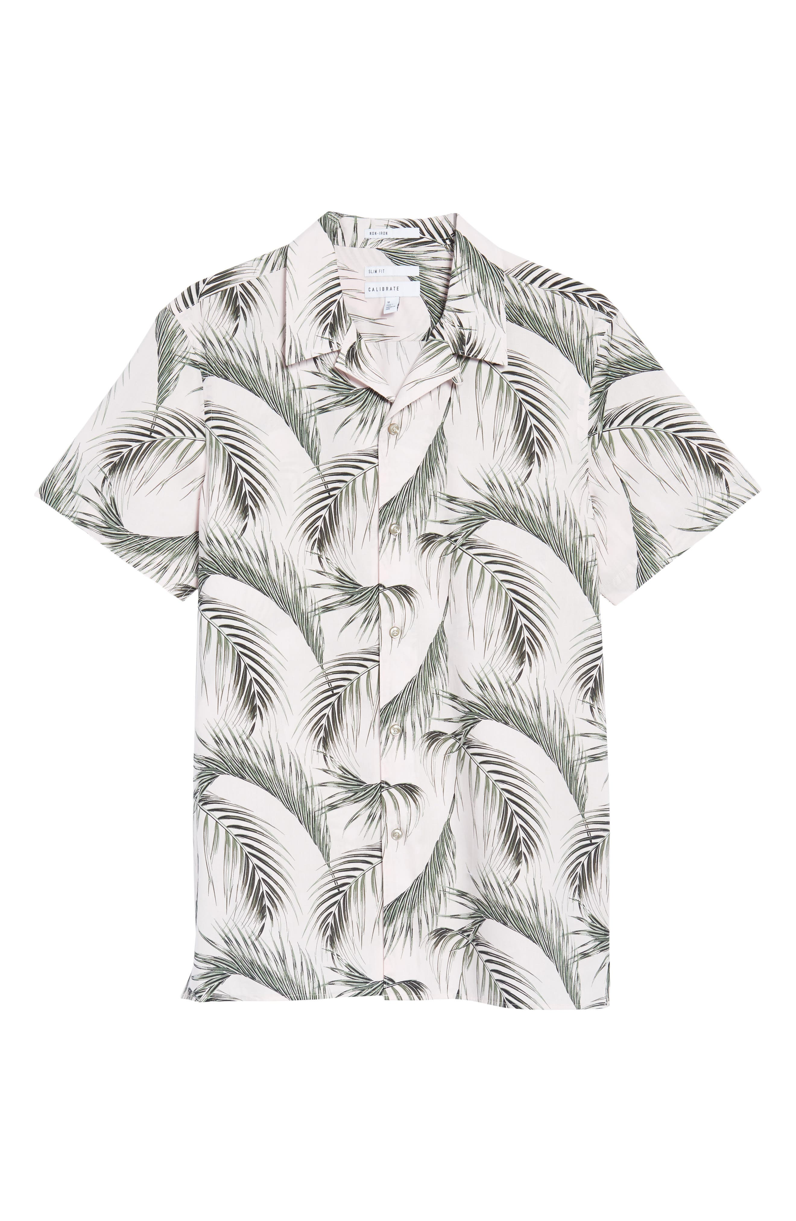 Slim Fit Short Sleeve Print Camp Shirt,                             Alternate thumbnail 12, color,