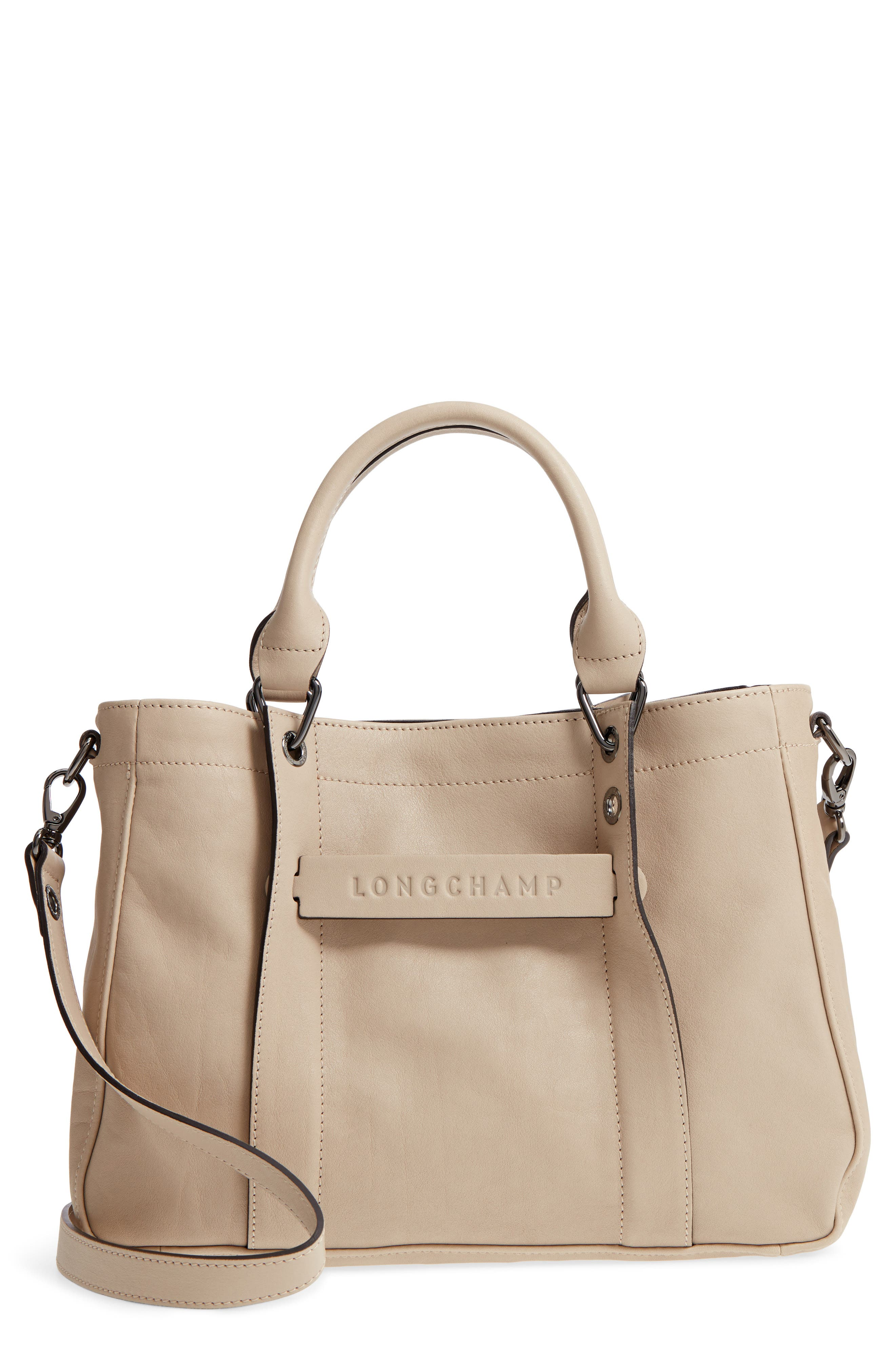 'Small 3D' Leather Tote,                         Main,                         color, 020