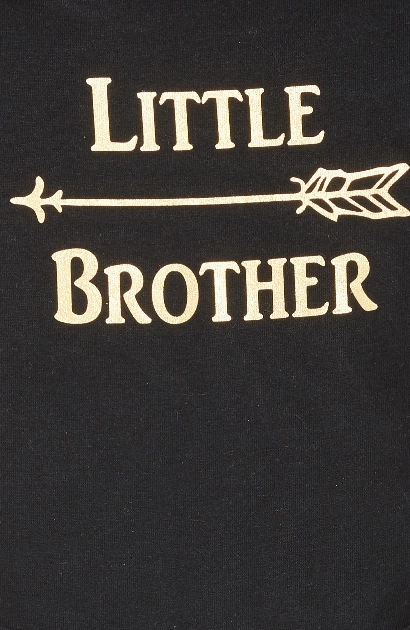 Little Brother Bodysuit,                             Alternate thumbnail 2, color,                             BLACK
