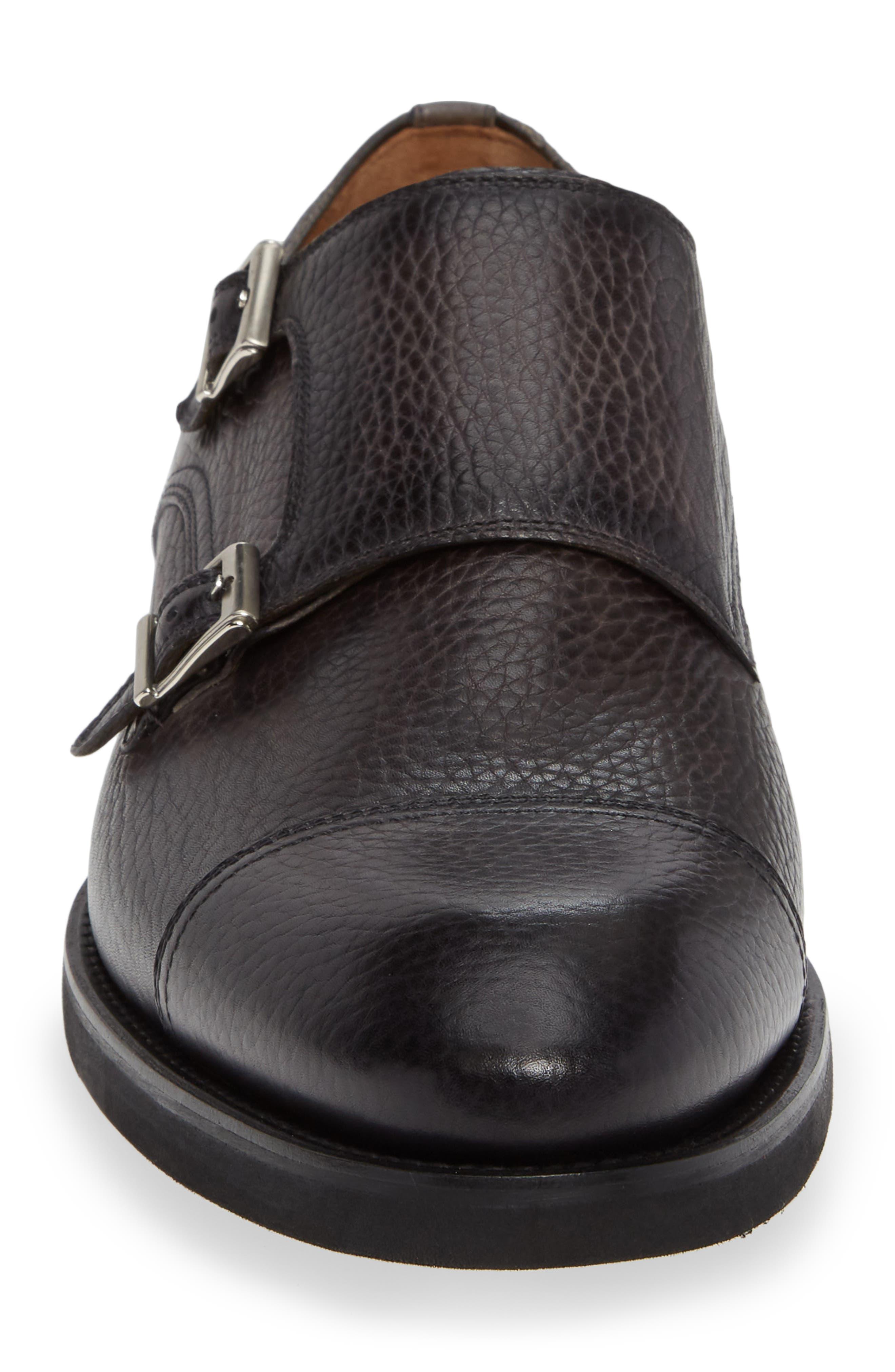 Jebor Double Monk Strap Shoe,                             Alternate thumbnail 4, color,                             GREY
