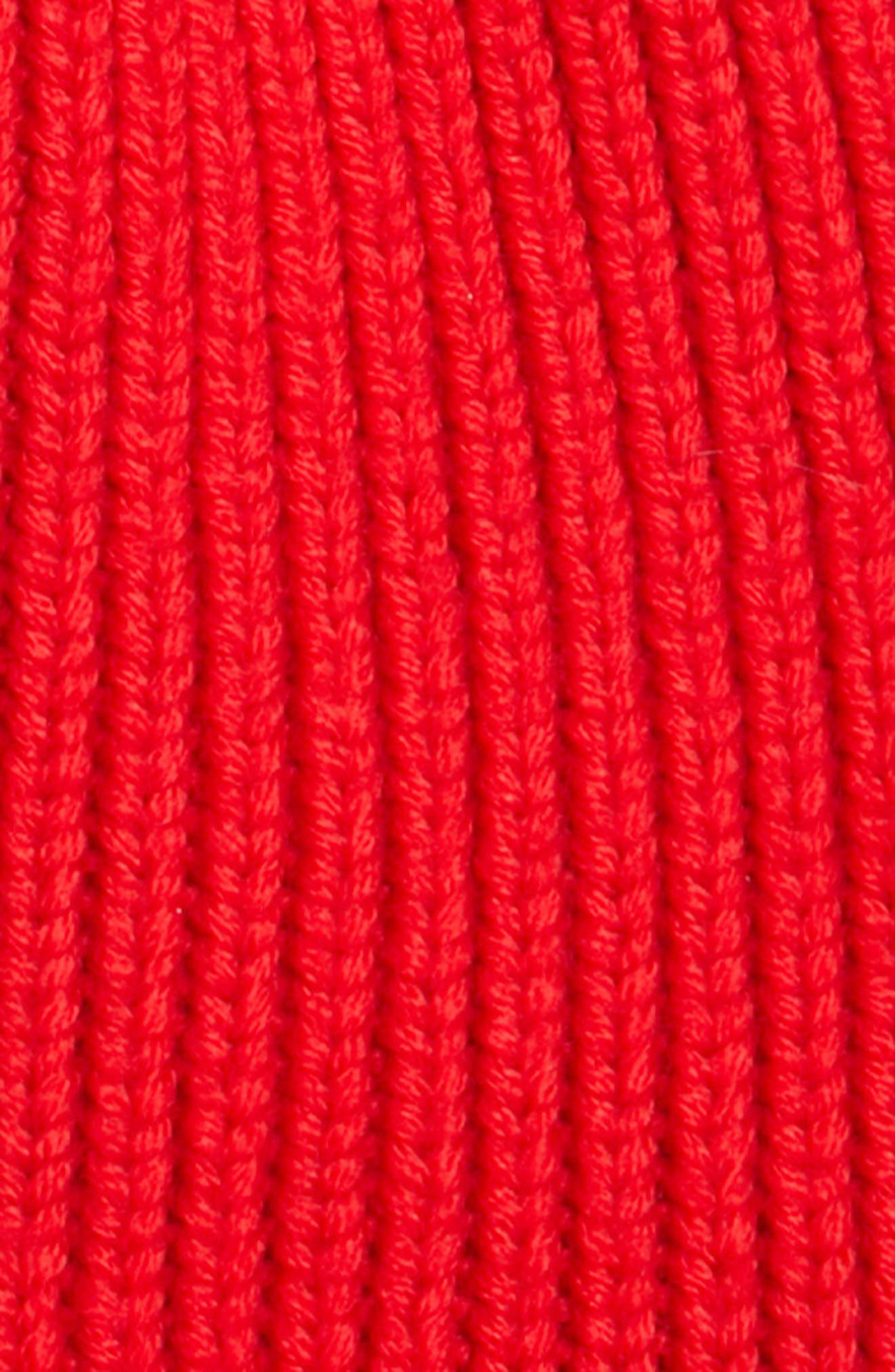 MONCLER,                             Virgin Wool Beanie,                             Alternate thumbnail 2, color,                             RED