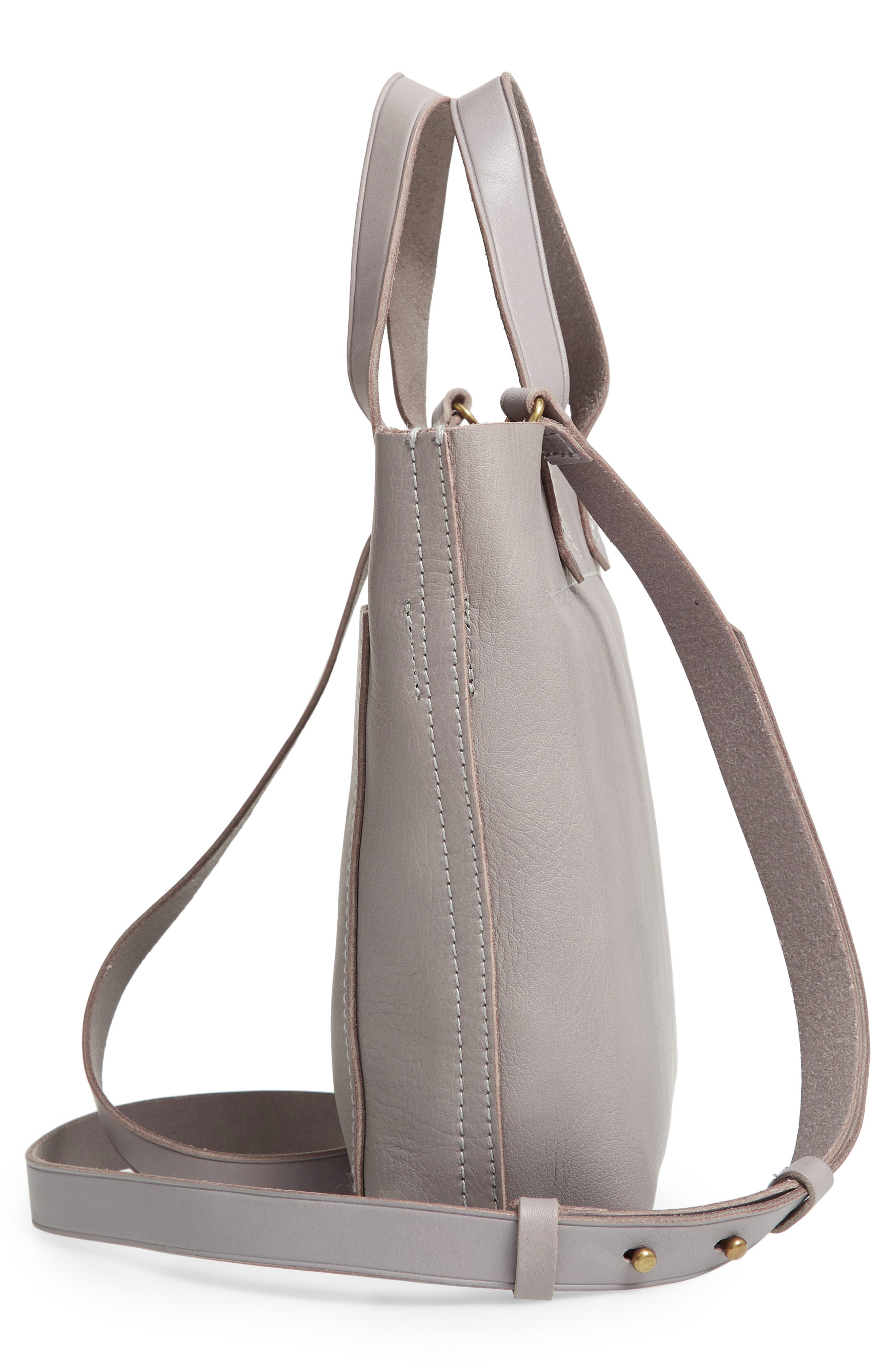Small Transport Leather Crossbody,                             Alternate thumbnail 5, color,                             STONEWALL