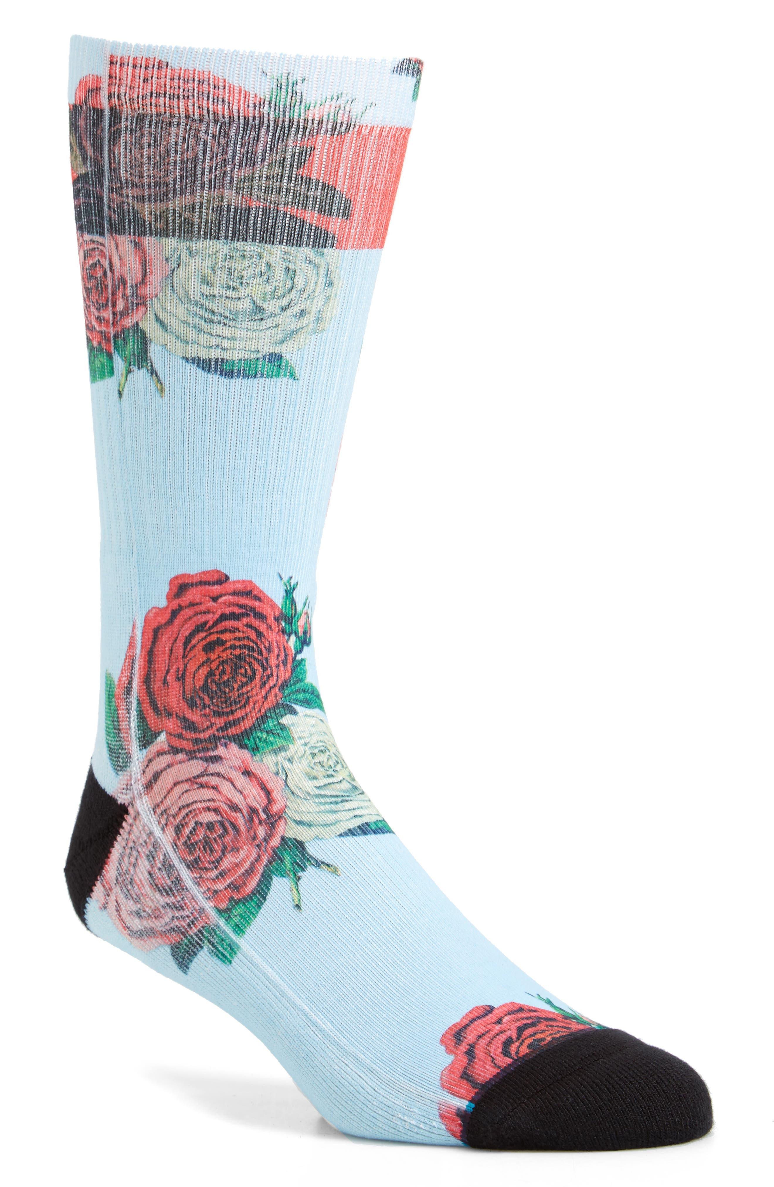 Libertine Rose Crew Socks,                             Main thumbnail 1, color,