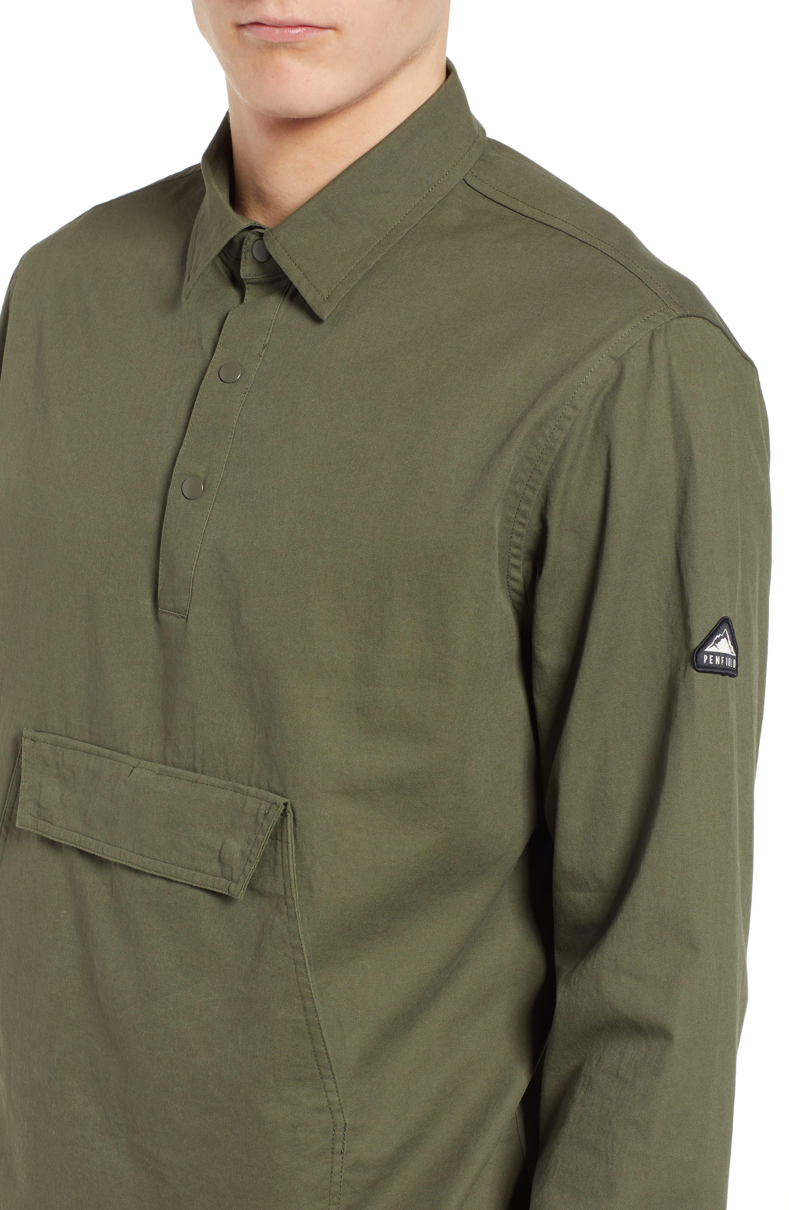 Adelanto Snap Pocket Shirt,                             Alternate thumbnail 4, color,                             DARK OLIVE