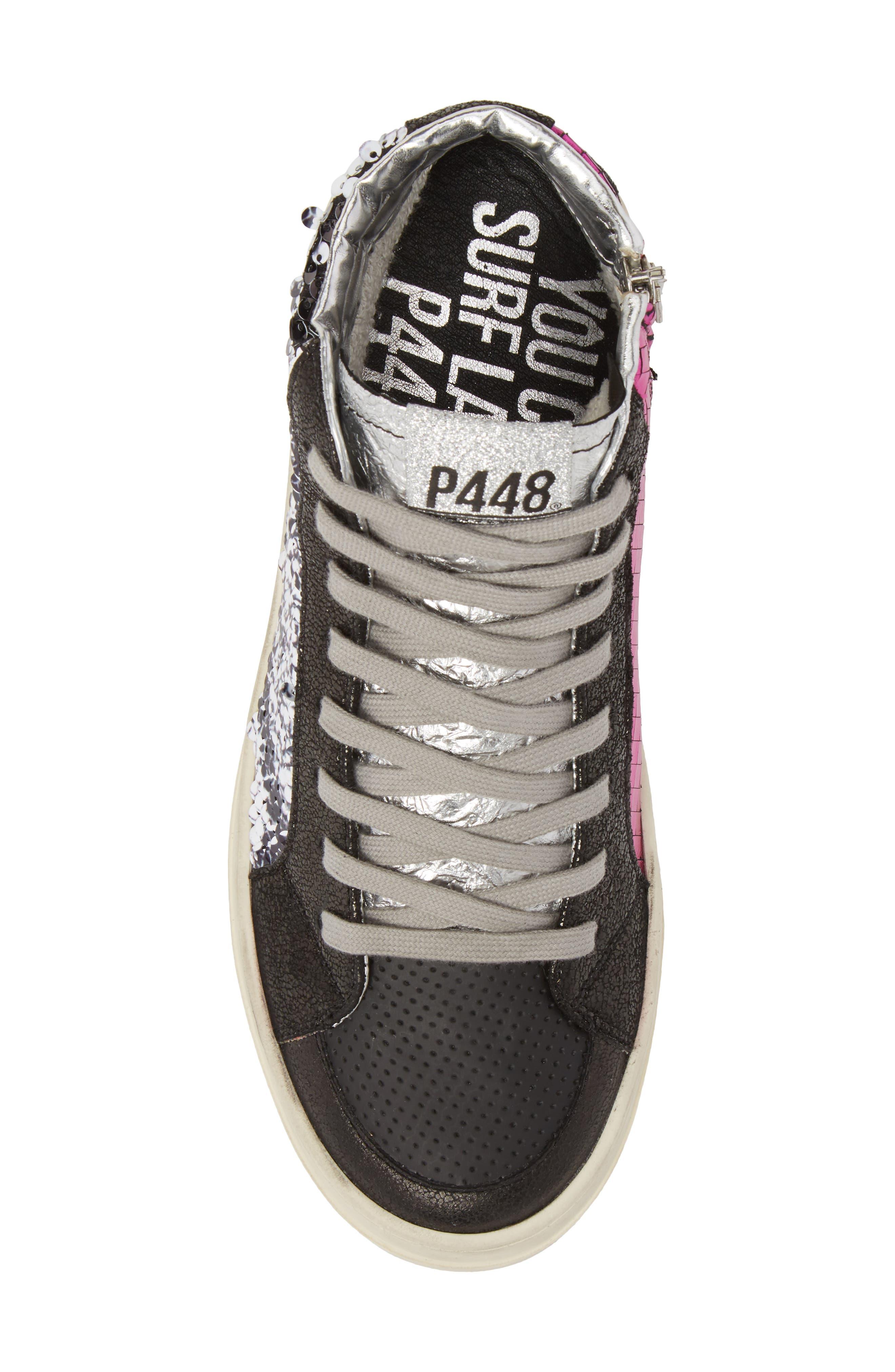 Skate Sequin High Top Sneaker,                             Alternate thumbnail 5, color,