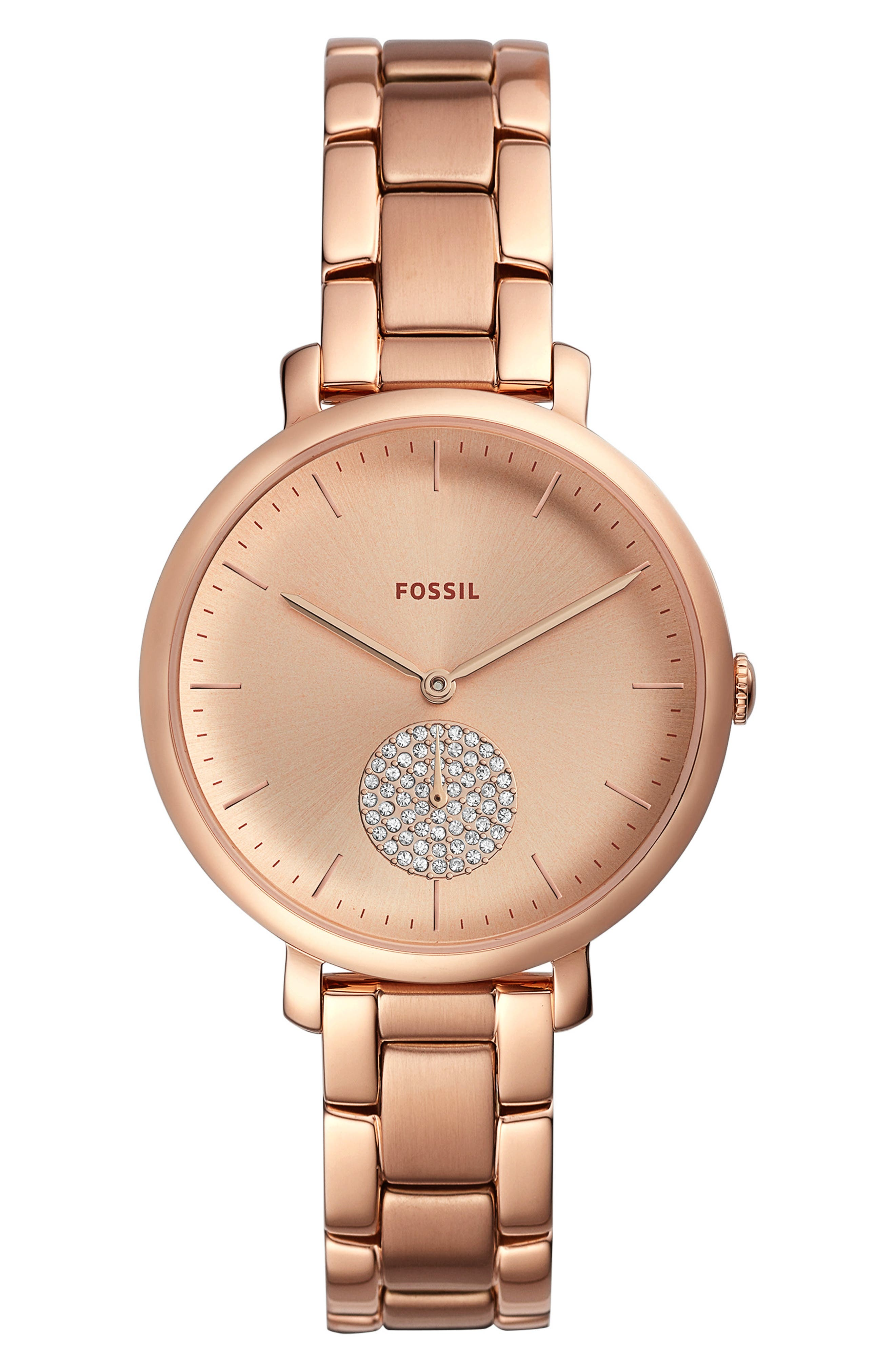 Fossil JACQUELINE GLITZ BRACELET WATCH, 36MM