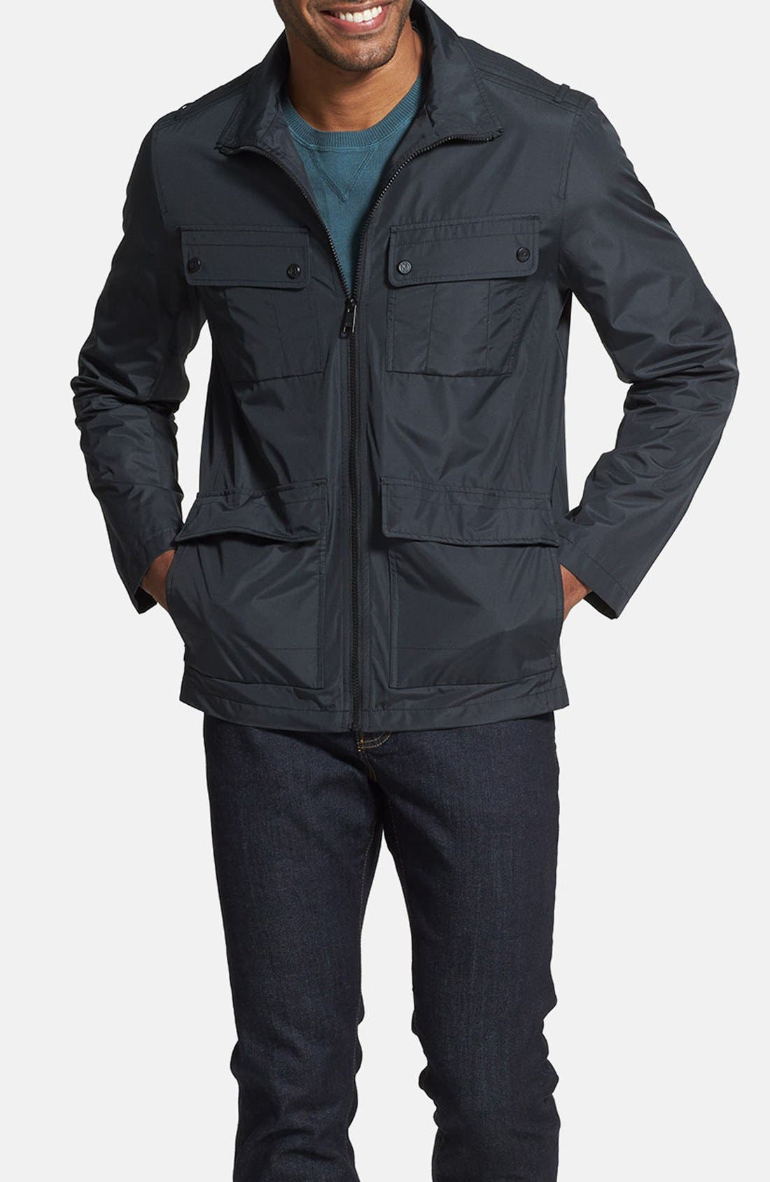 ANDREW MARC,                             'Robert' Water Resistant Jacket,                             Main thumbnail 1, color,                             001