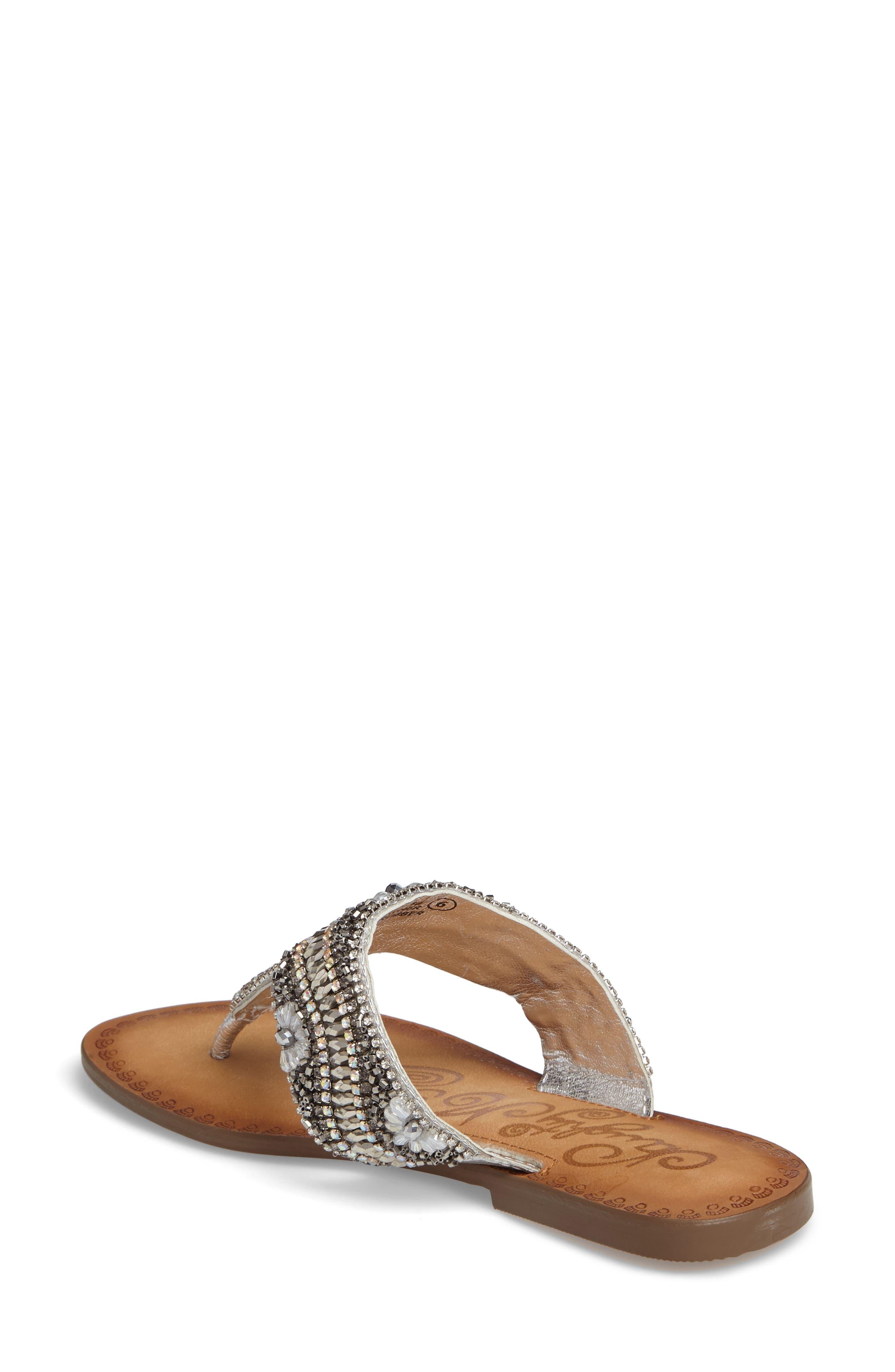 Lizabeth Embellished Sandal,                             Alternate thumbnail 4, color,