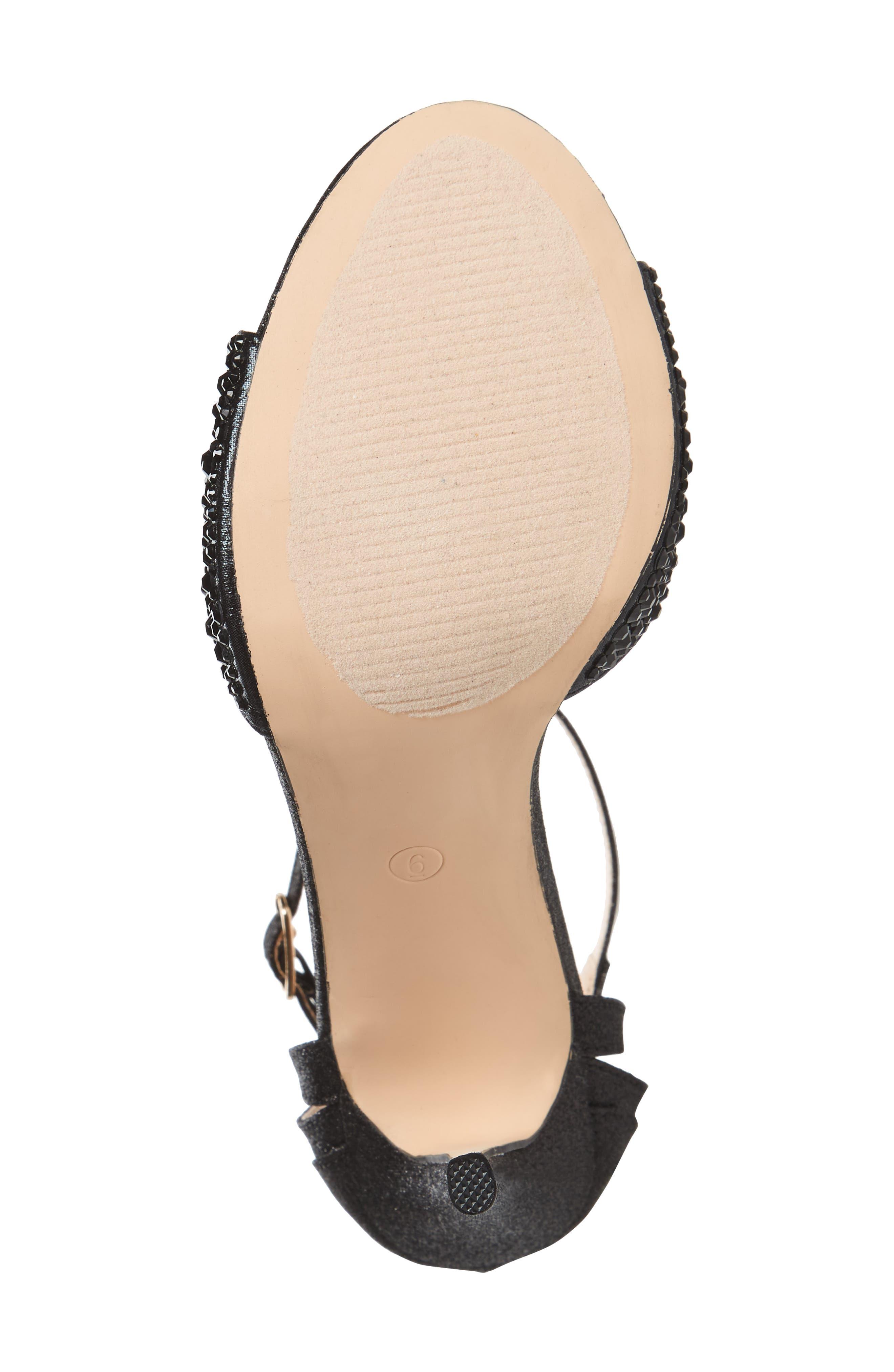 Maddy Embellished Sandal,                             Alternate thumbnail 6, color,                             001