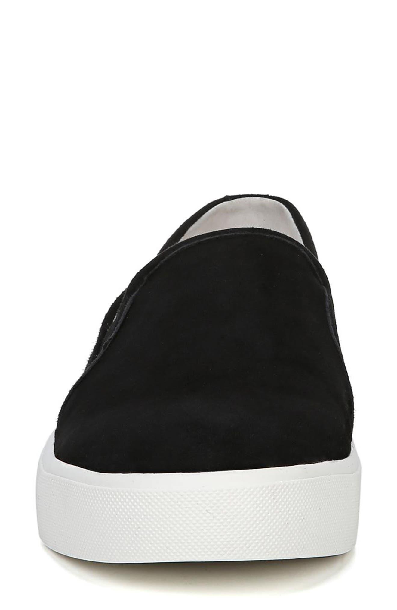 Elton Slip-On Sneaker,                             Alternate thumbnail 4, color,                             BLACK SUEDE LEATHER
