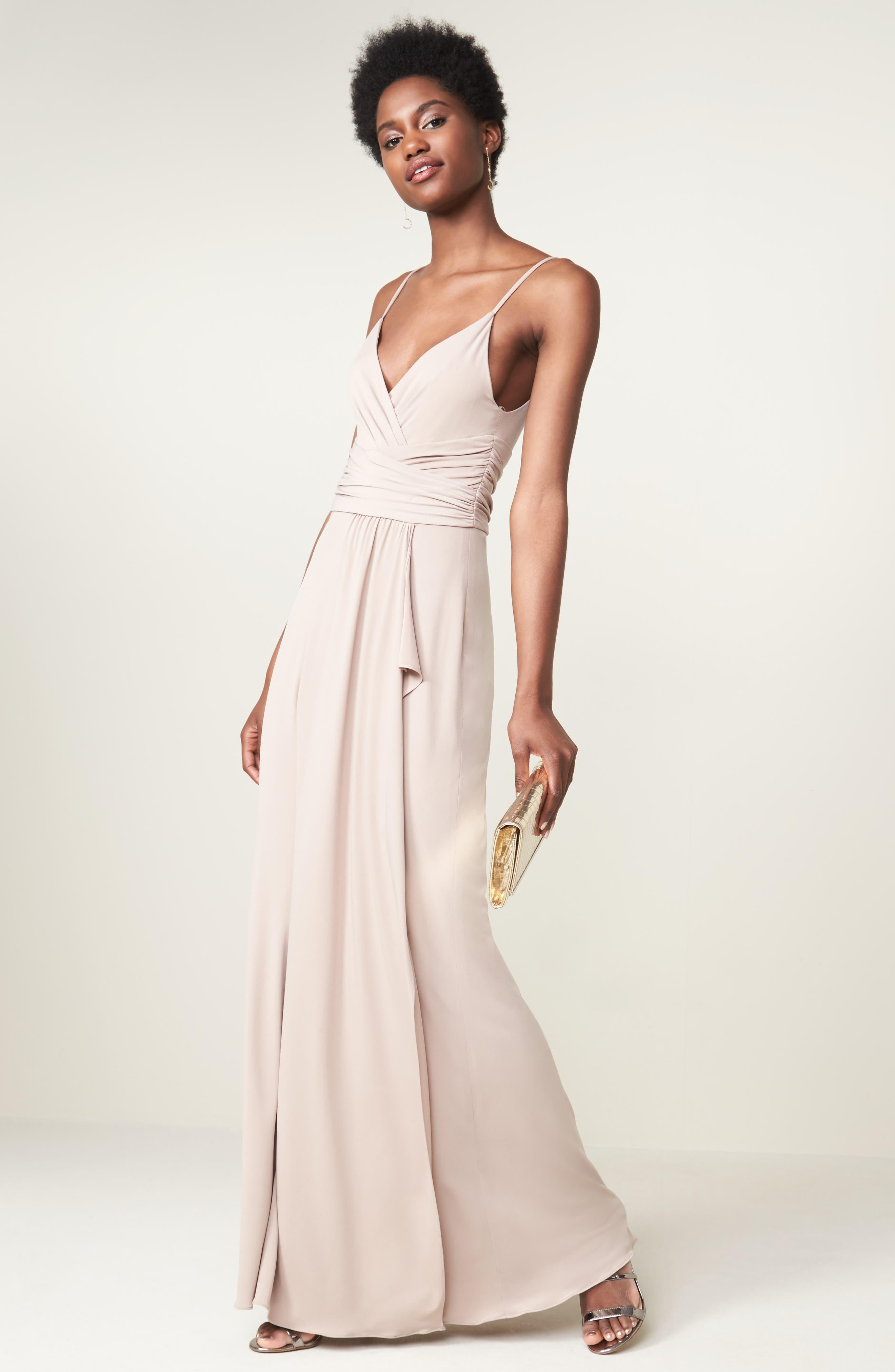 Celina Mock Wrap Gown,                             Alternate thumbnail 9, color,                             253