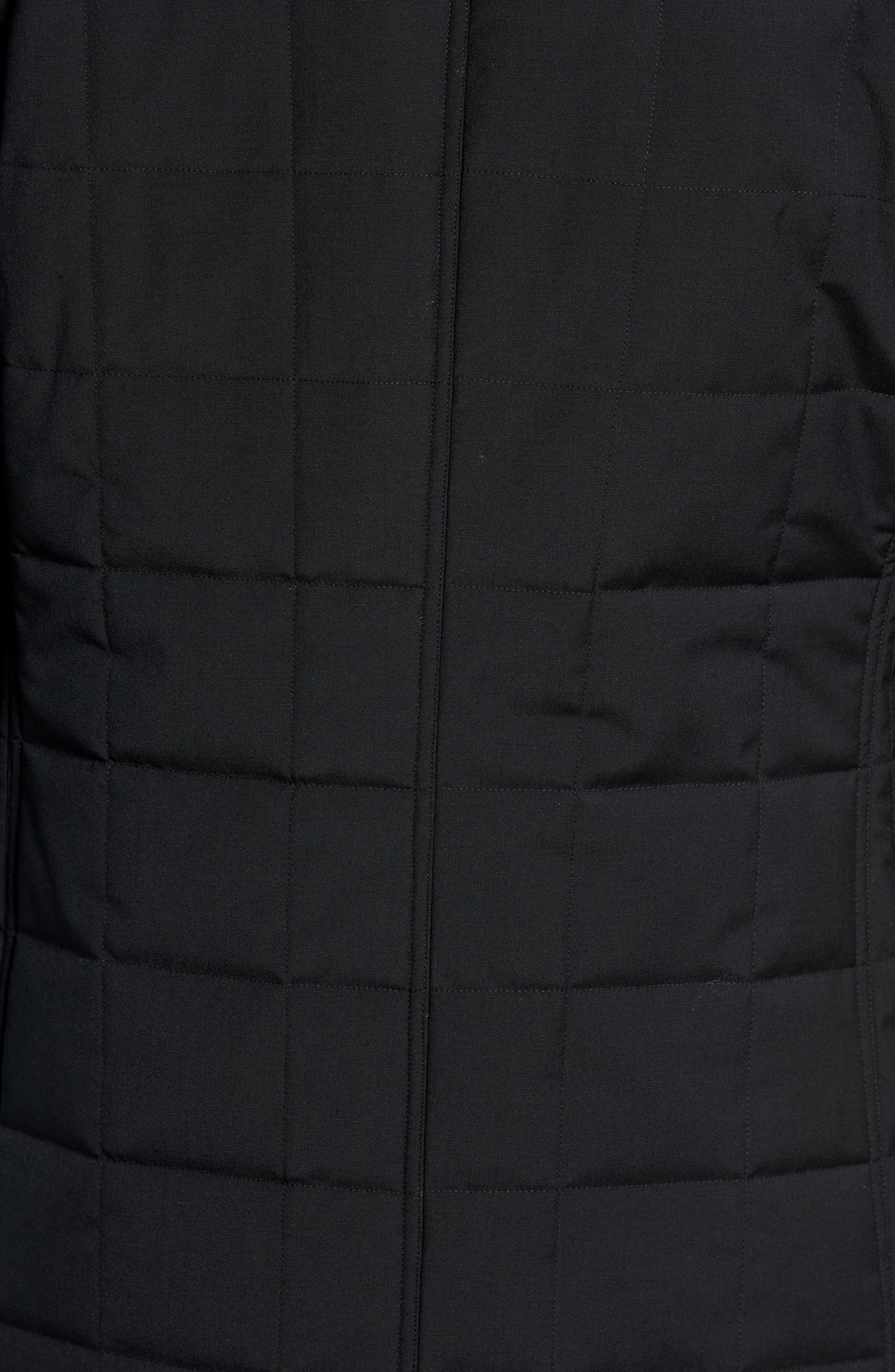Quilted Car Coat,                             Alternate thumbnail 7, color,                             BLACK