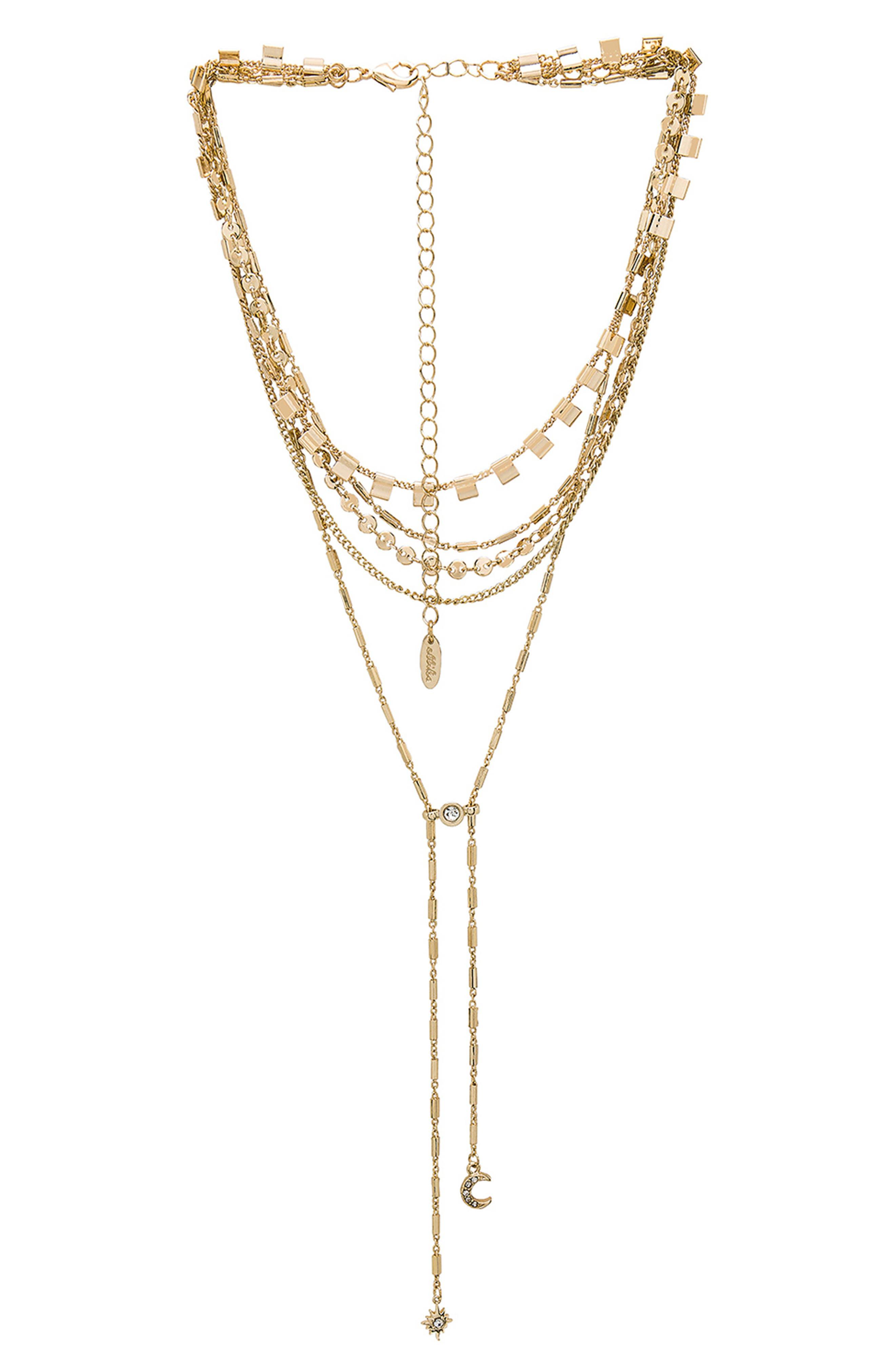 ETTIKA Layered Lariat Necklace in Gold