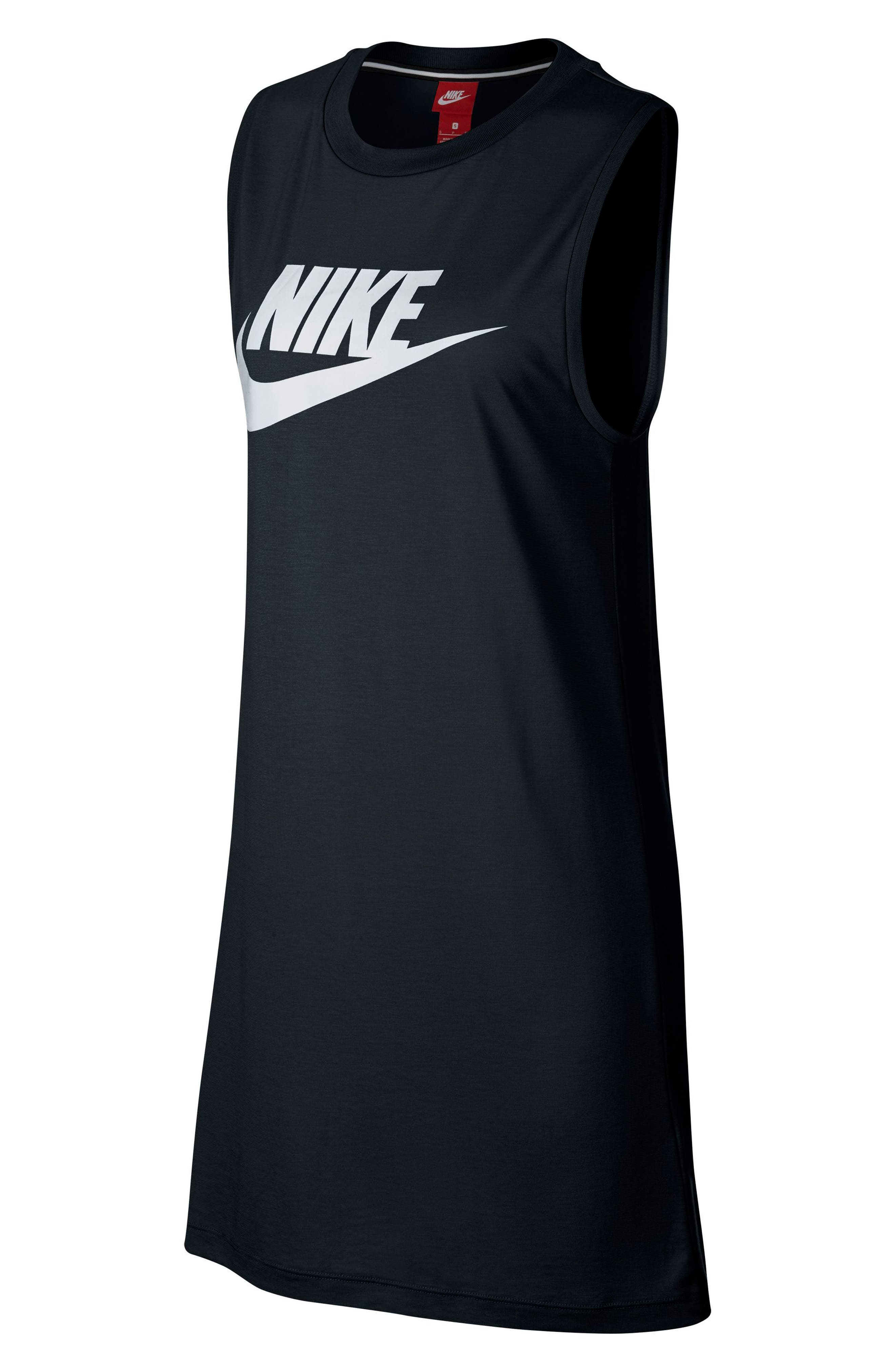 Sportswear Sleeveless Dress,                             Alternate thumbnail 4, color,                             010