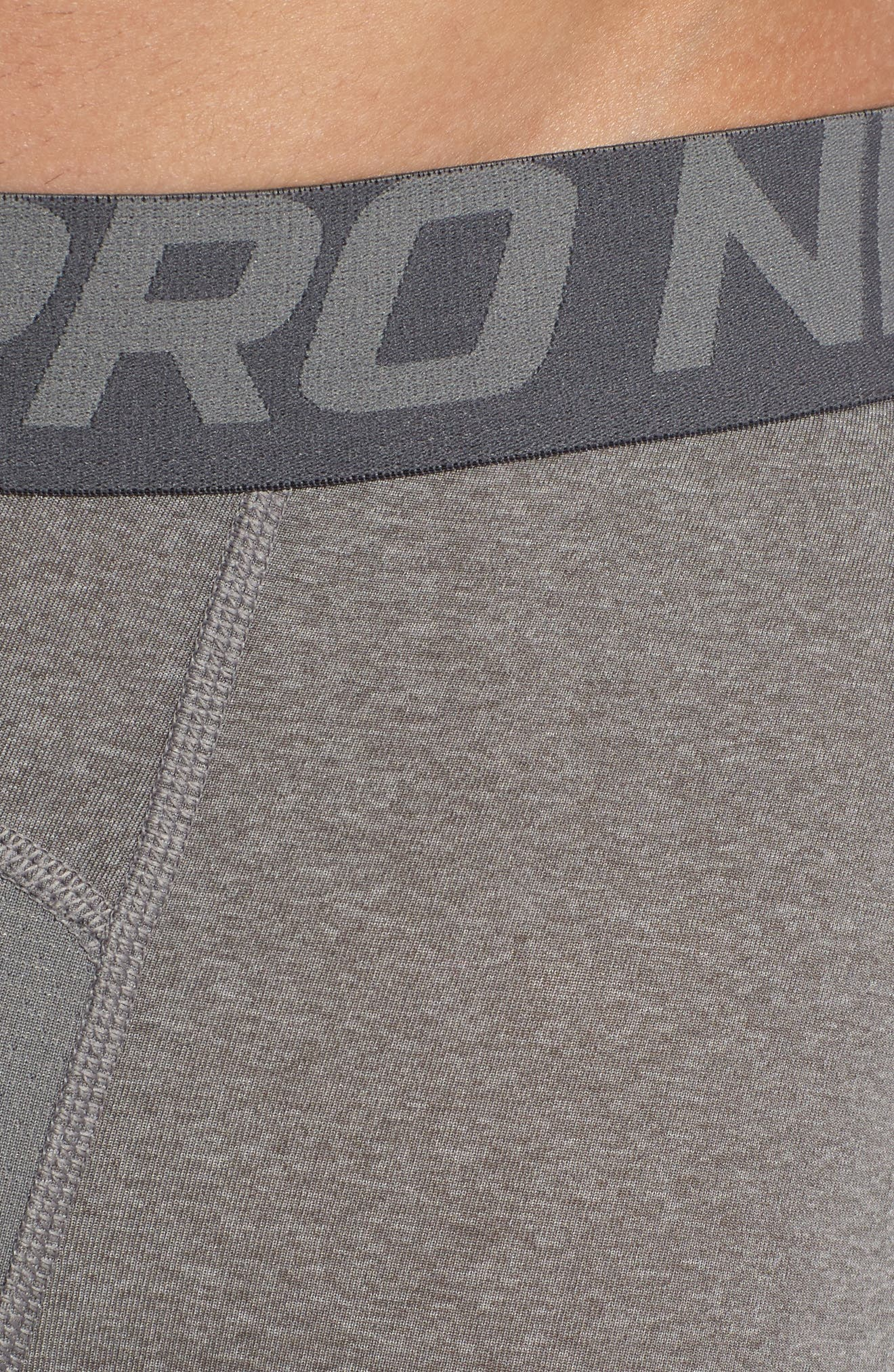 Pro Athletic Tights,                             Alternate thumbnail 4, color,                             CARBON HEATHER/ GREY/ BLACK