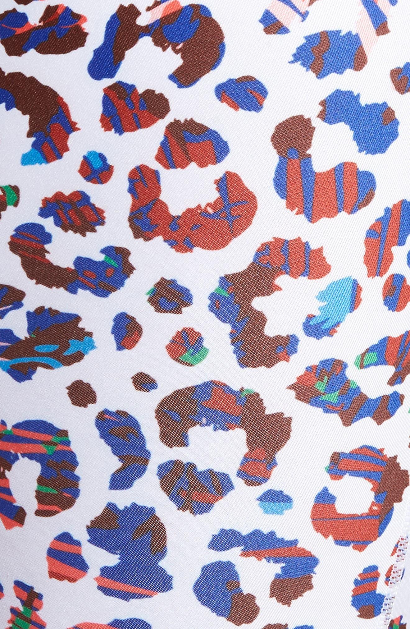 Beach Cheetah Stretch Boxer Briefs,                             Alternate thumbnail 5, color,                             WHITE MULTI