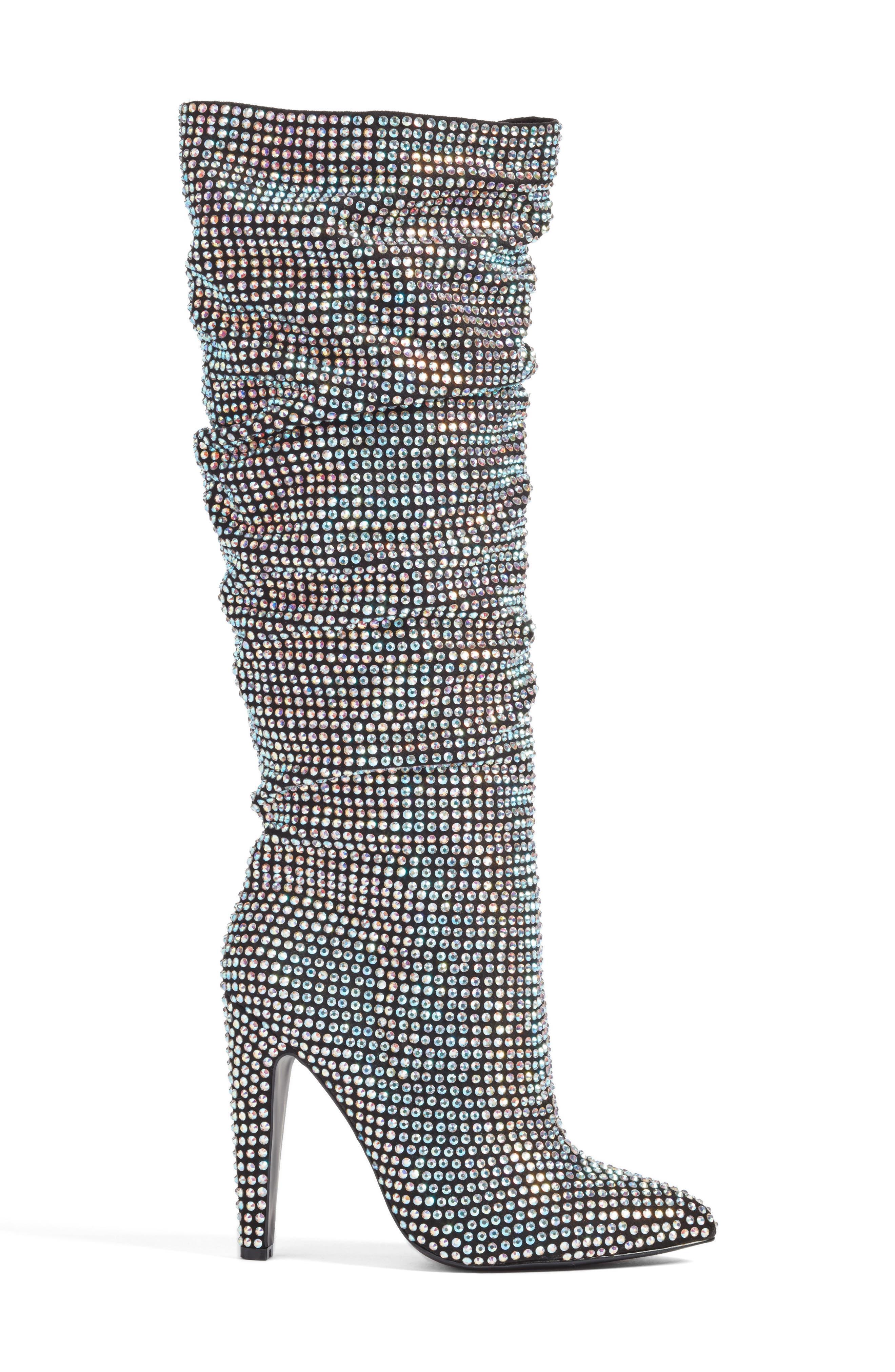 Crushing Embellished Boot,                             Alternate thumbnail 3, color,                             040