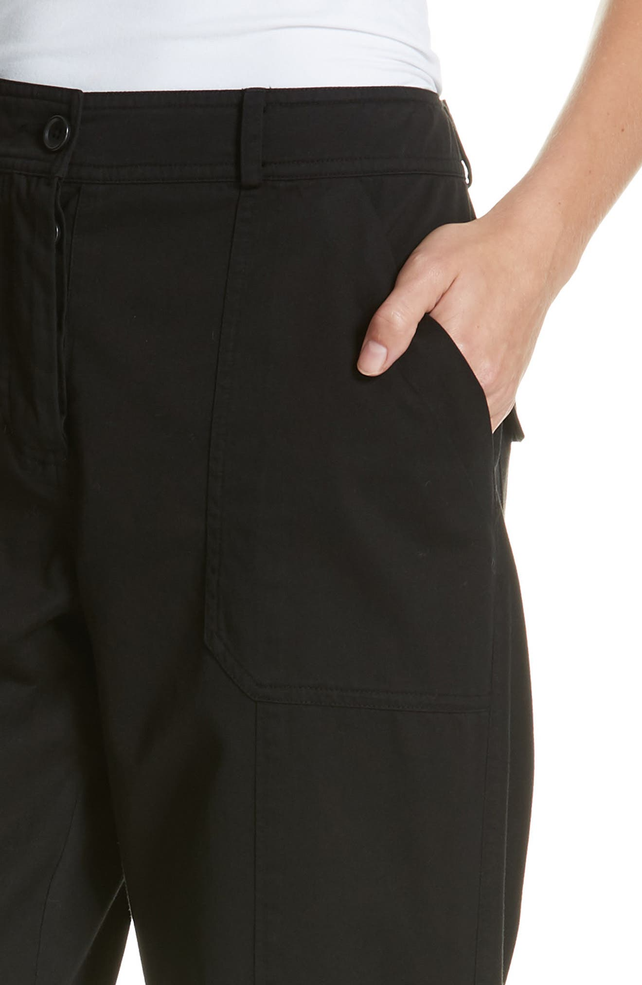 Belt Cuff Pants,                             Alternate thumbnail 4, color,                             BLACK
