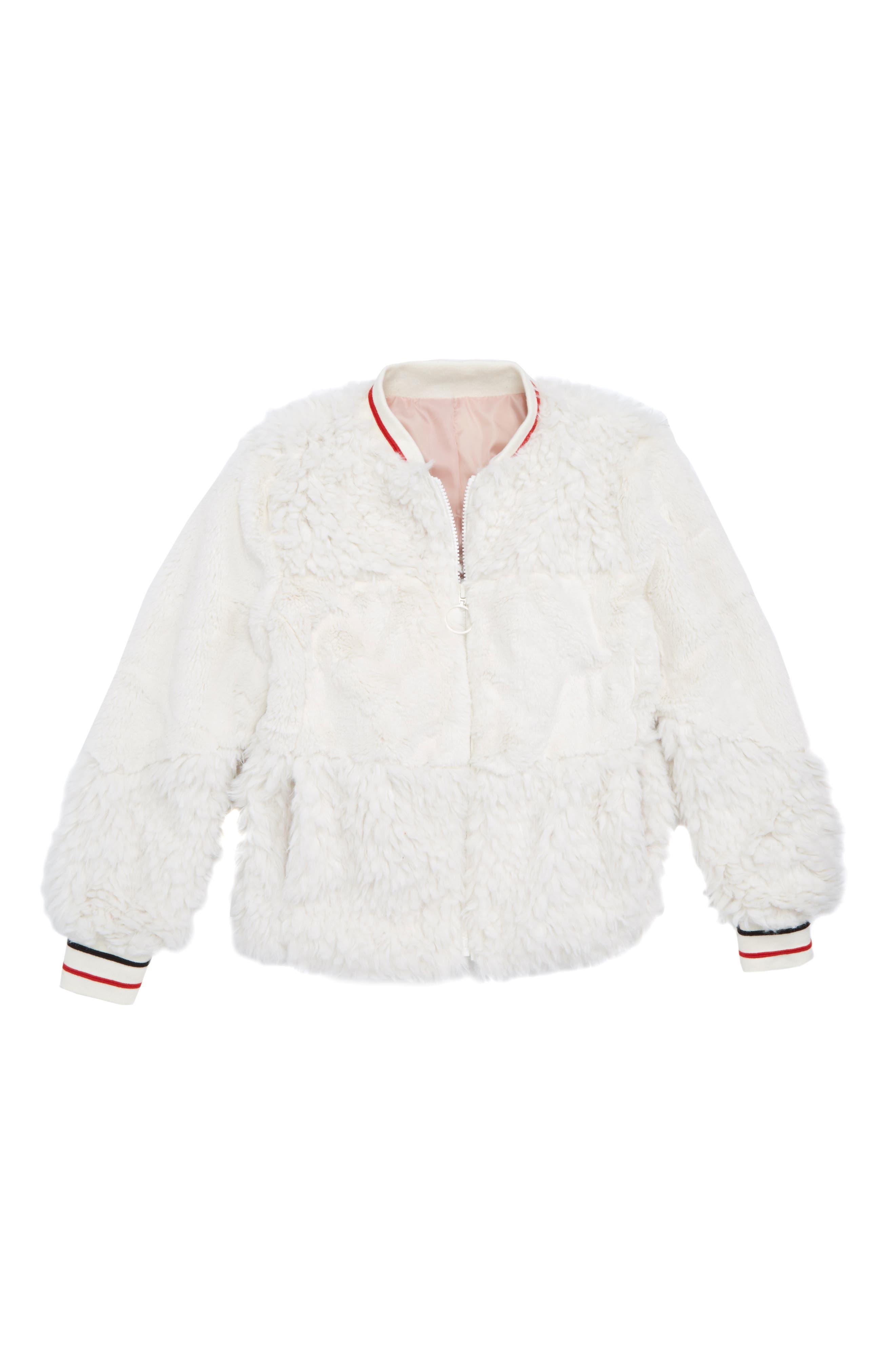 Faux Fur Bomber Jacket,                         Main,                         color, 900