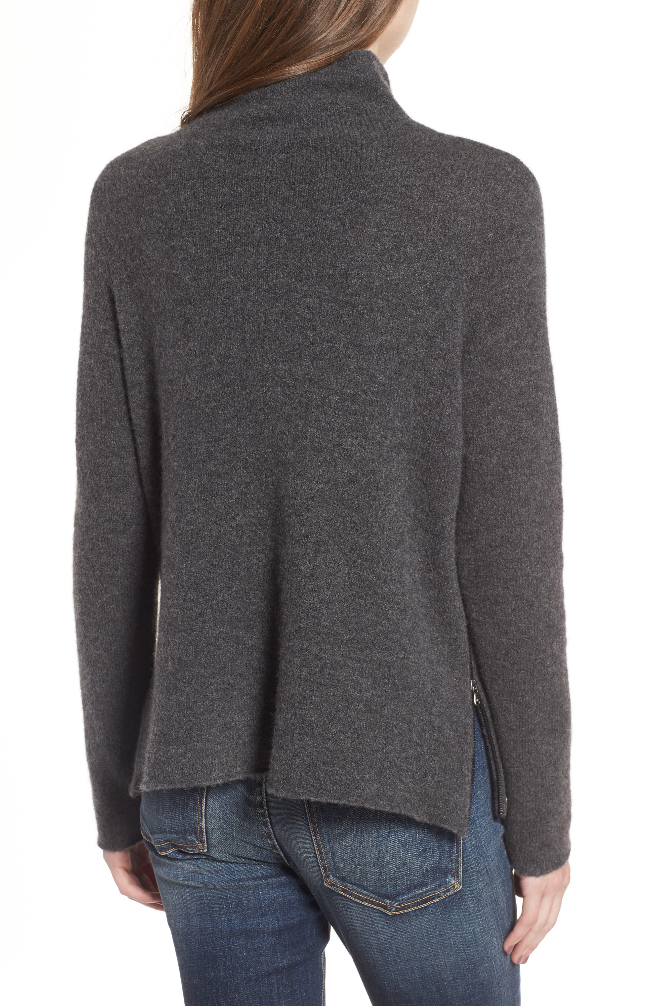 Stretch Cashmere Mock Neck Sweater,                             Alternate thumbnail 2, color,                             069