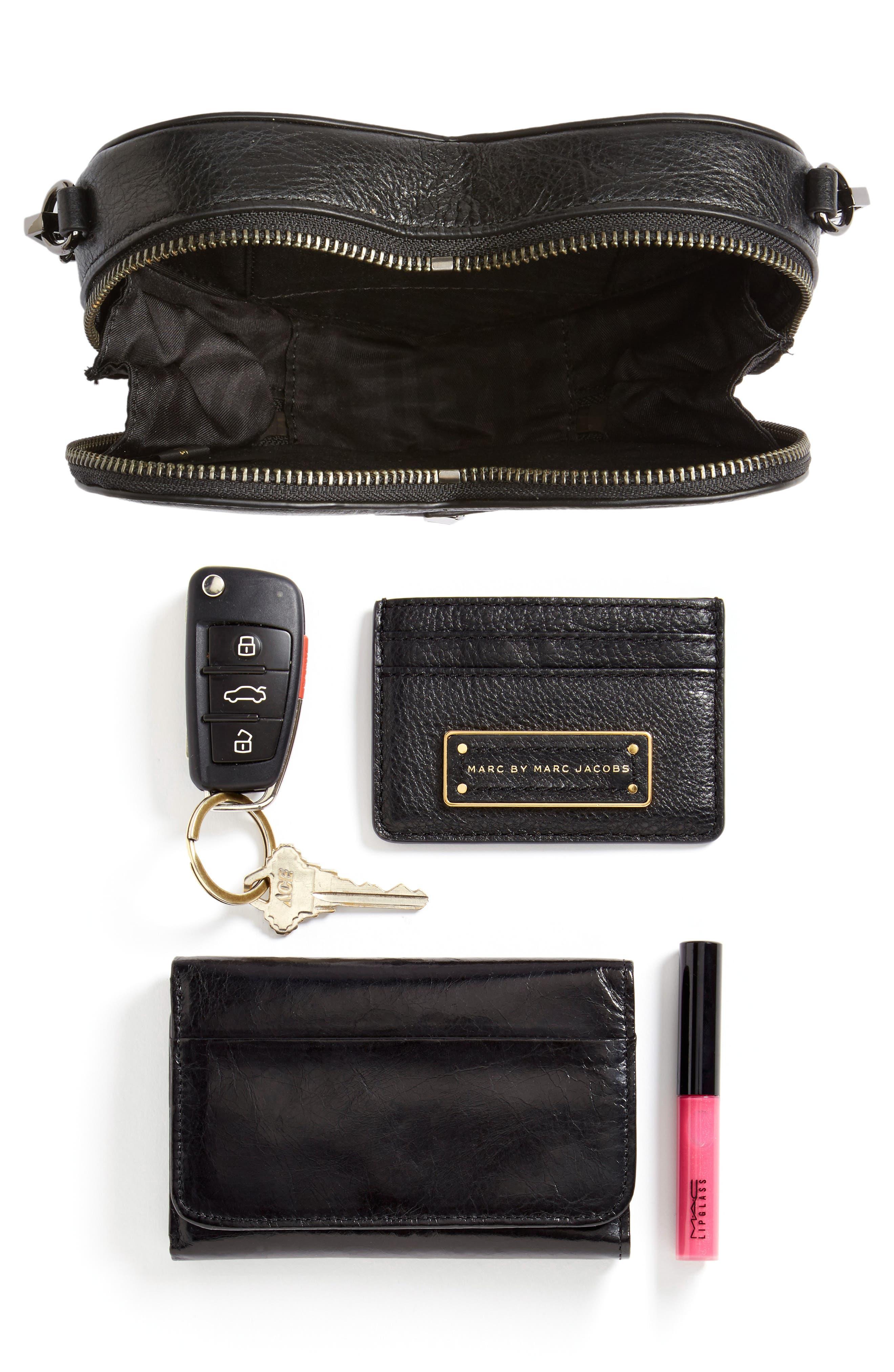 Jamie Heart Leather Crossbody Bag,                             Alternate thumbnail 7, color,