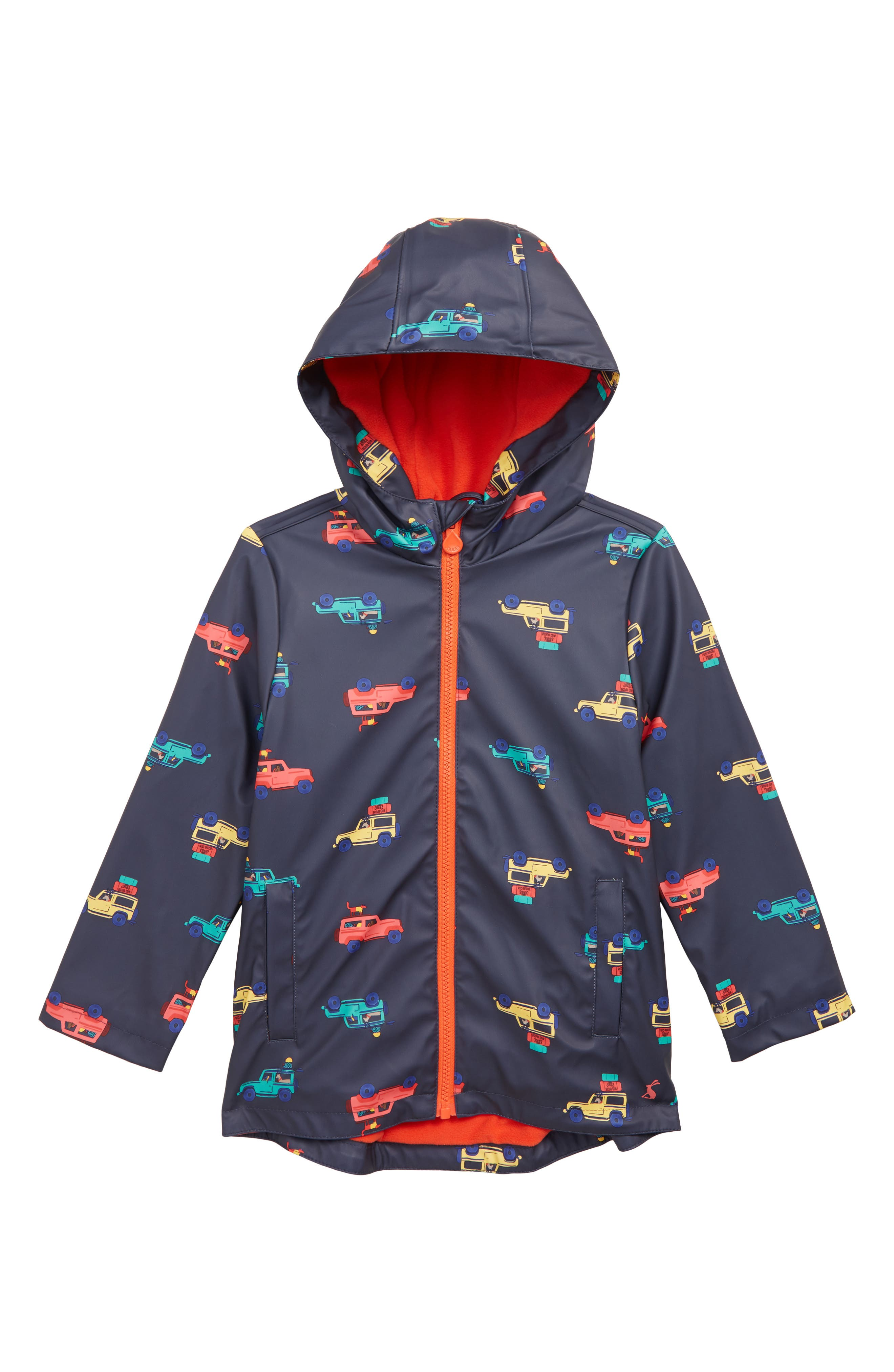 Toddler Boys Joules Waterproof Rubber Coat Size 3Y  Blue
