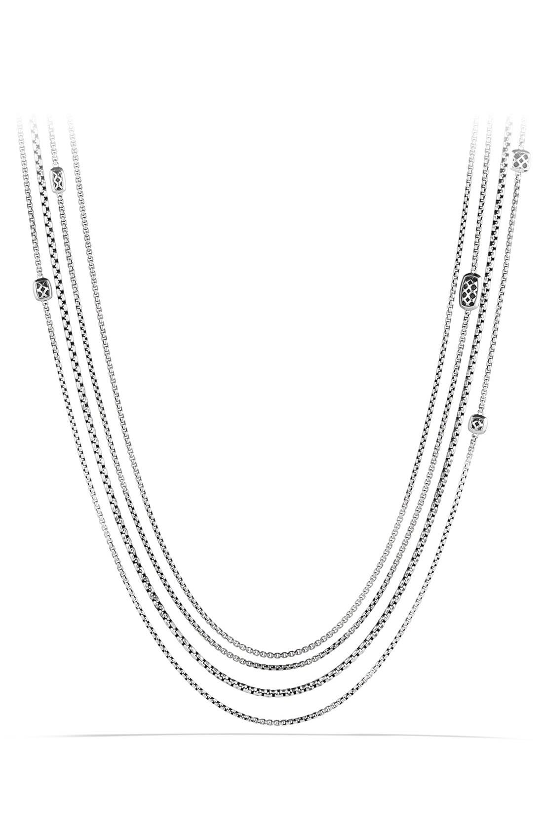 'Confetti' Station Necklace with Diamonds,                             Alternate thumbnail 3, color,                             040