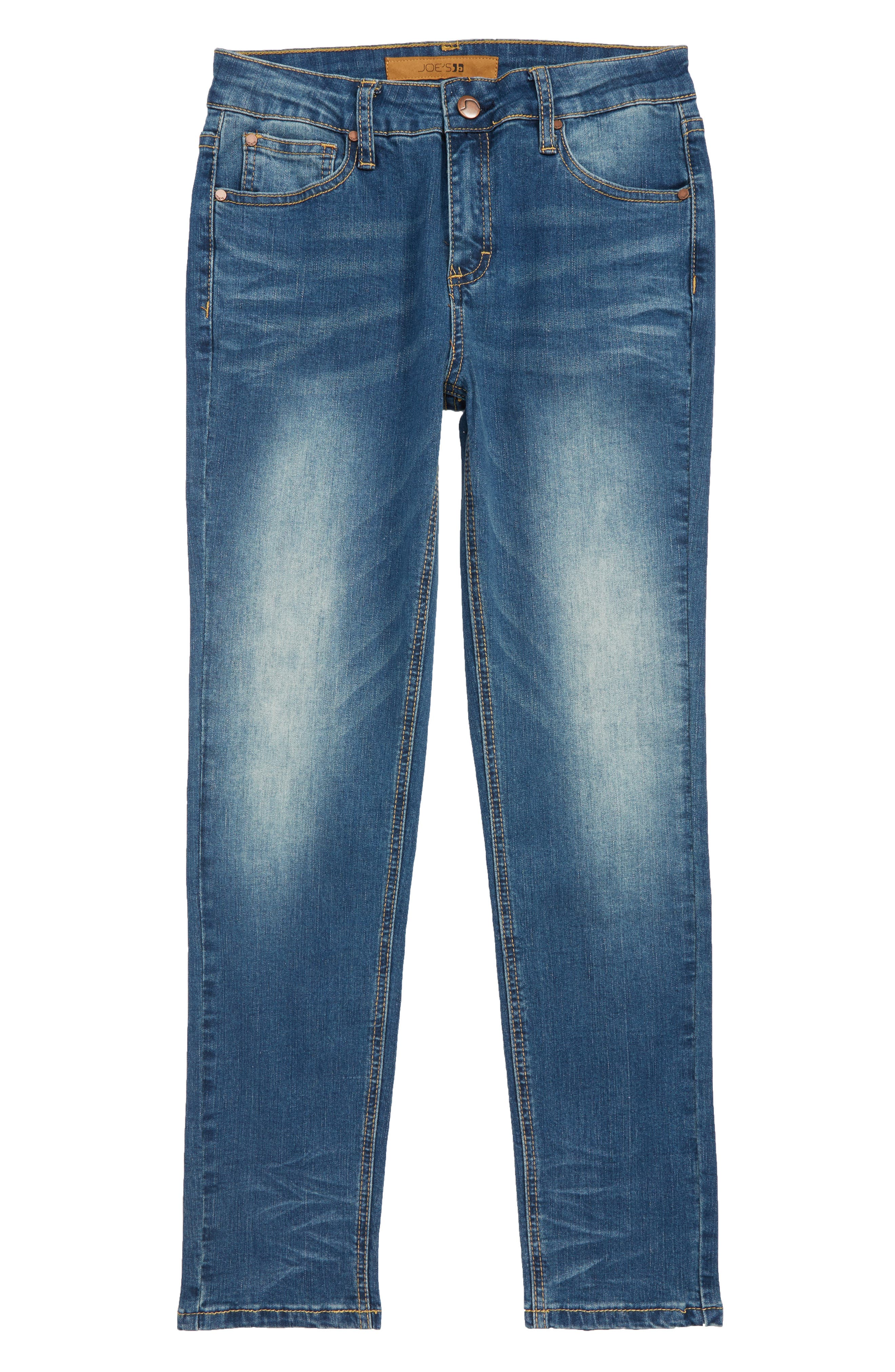 Brixton Straight Leg Stretch Jeans,                             Main thumbnail 1, color,                             FOSSIL