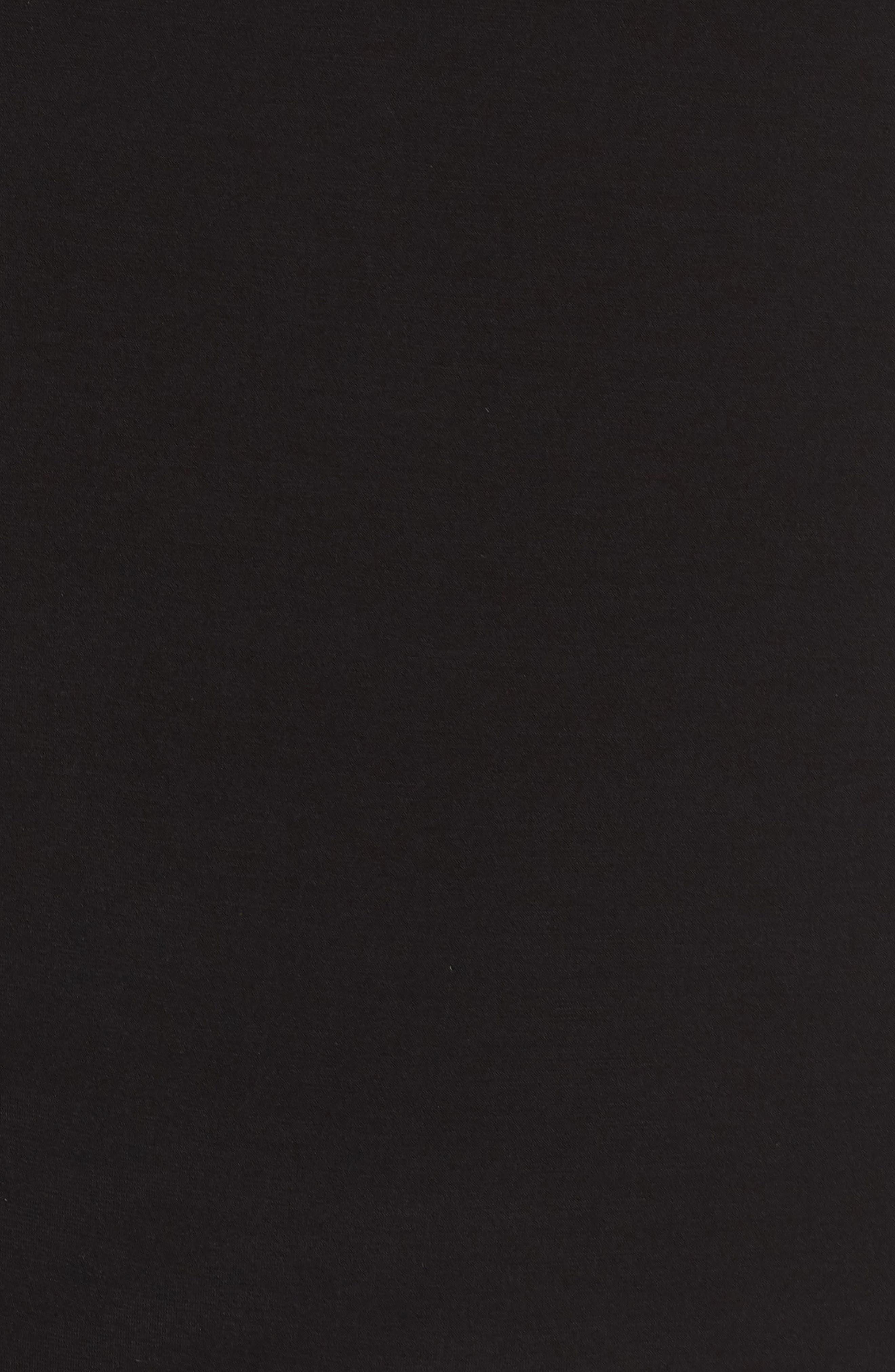 Pleat Neck Top,                             Alternate thumbnail 6, color,                             BLACK