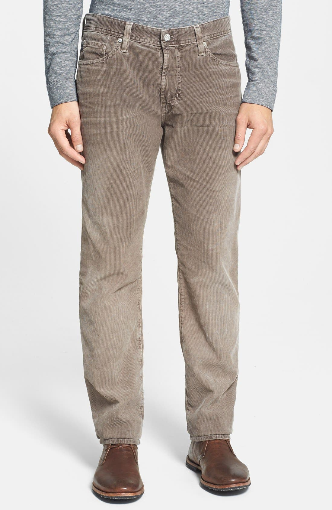 'Graduate' Tailored Straight Leg Corduroy Pants,                             Main thumbnail 12, color,