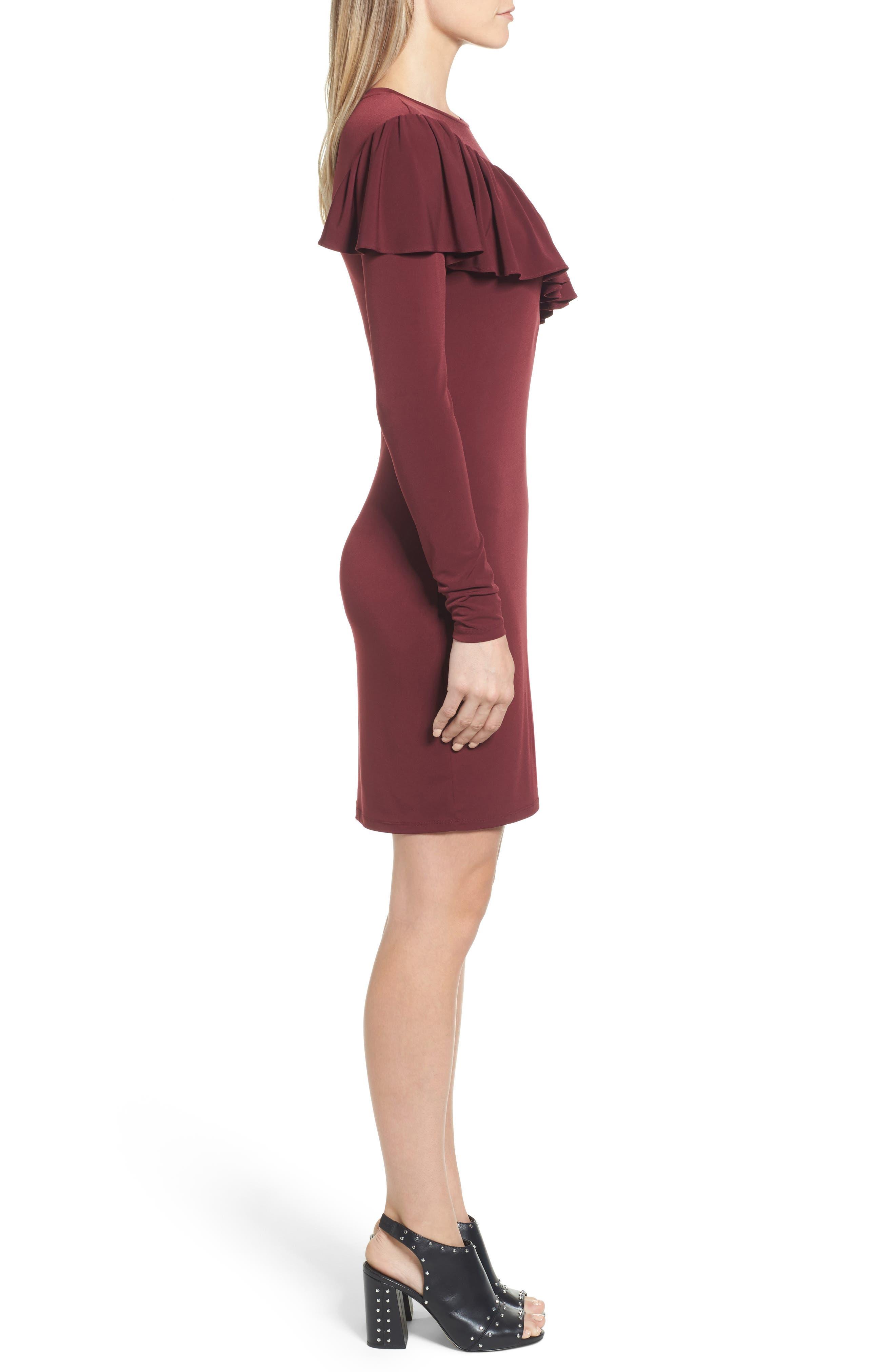 Long Sleeve Ruffle Dress,                             Alternate thumbnail 3, color,                             633