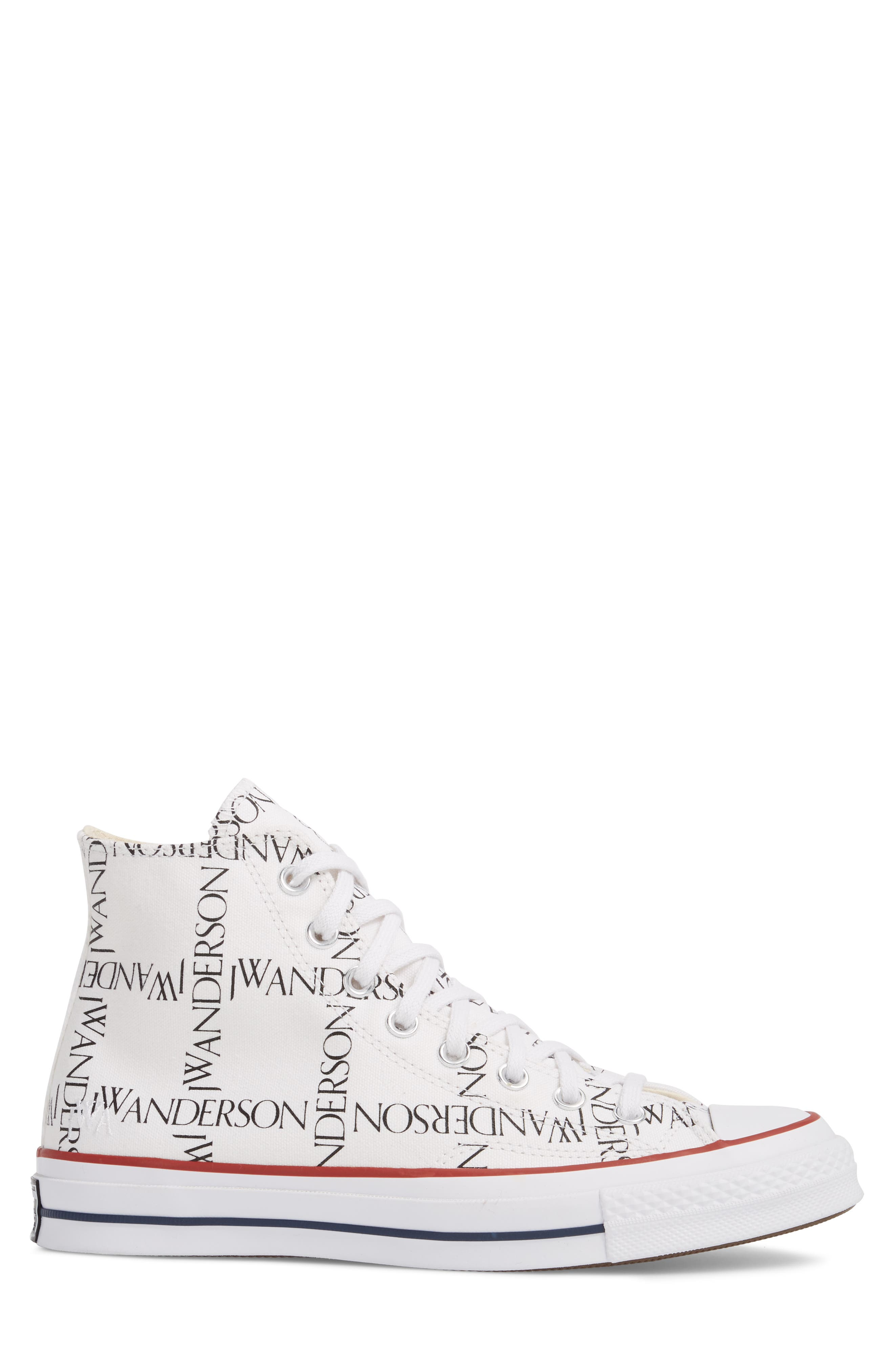 x JW Anderson Chuck Taylor<sup>®</sup> All Star<sup>®</sup> 70 Grid Sneaker,                             Alternate thumbnail 3, color,                             WHITE CANVAS