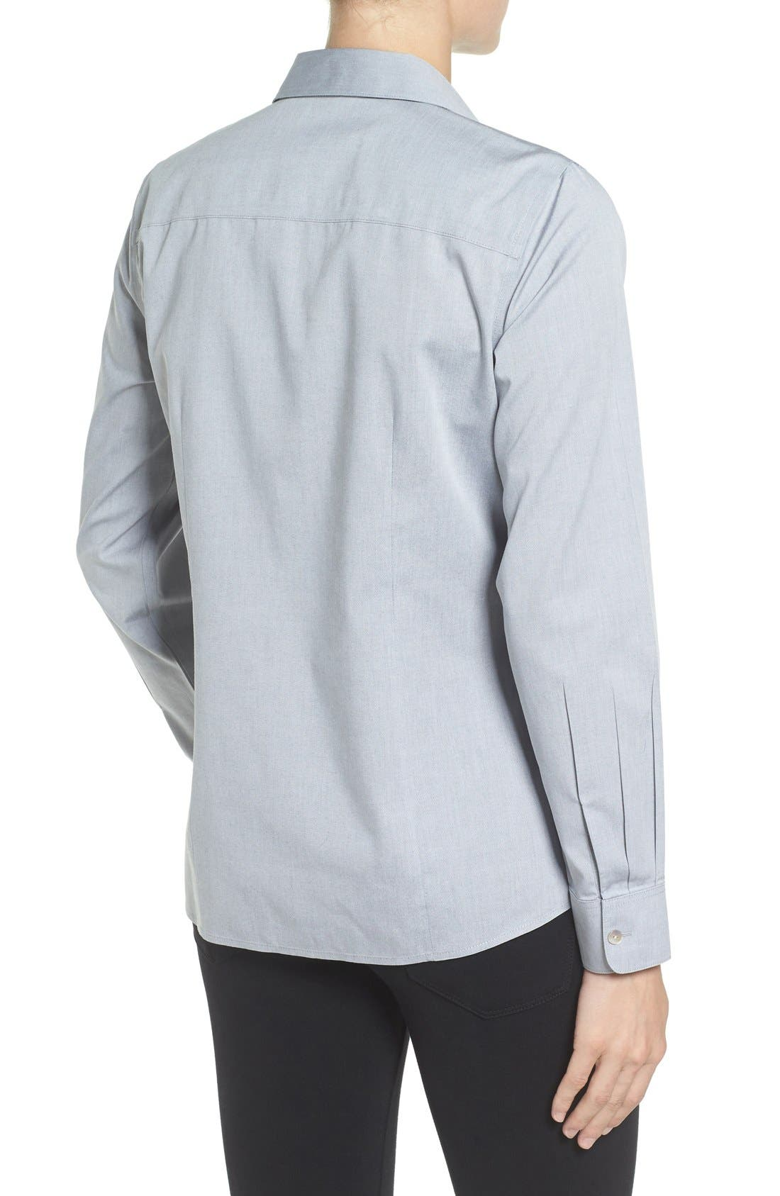 Non-Iron Fitted Shirt,                             Alternate thumbnail 6, color,