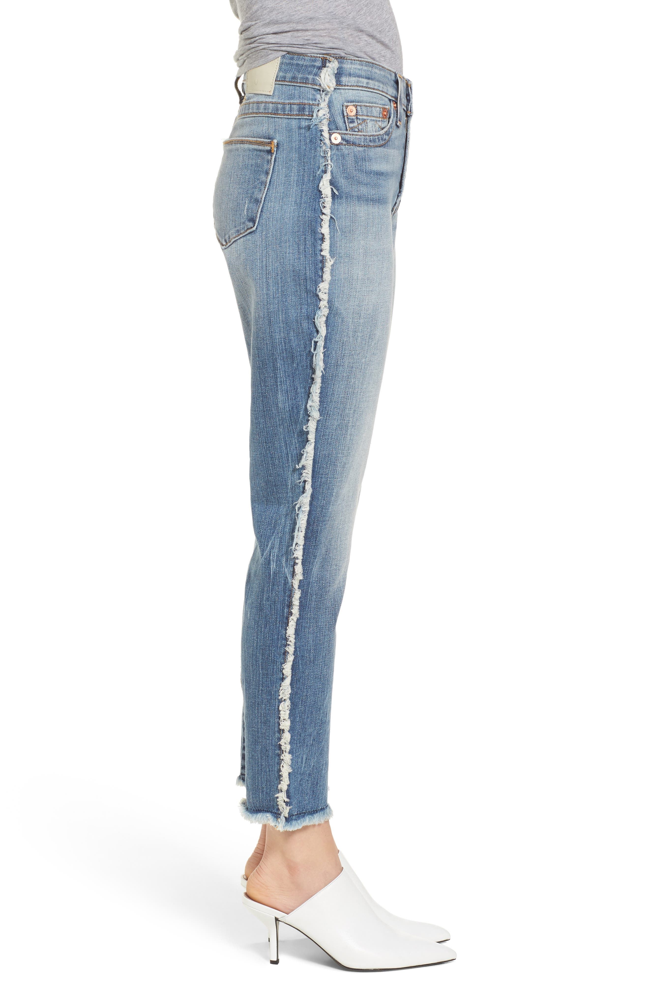 Colette High Waist Tapered Skinny Jeans,                             Alternate thumbnail 3, color,                             401