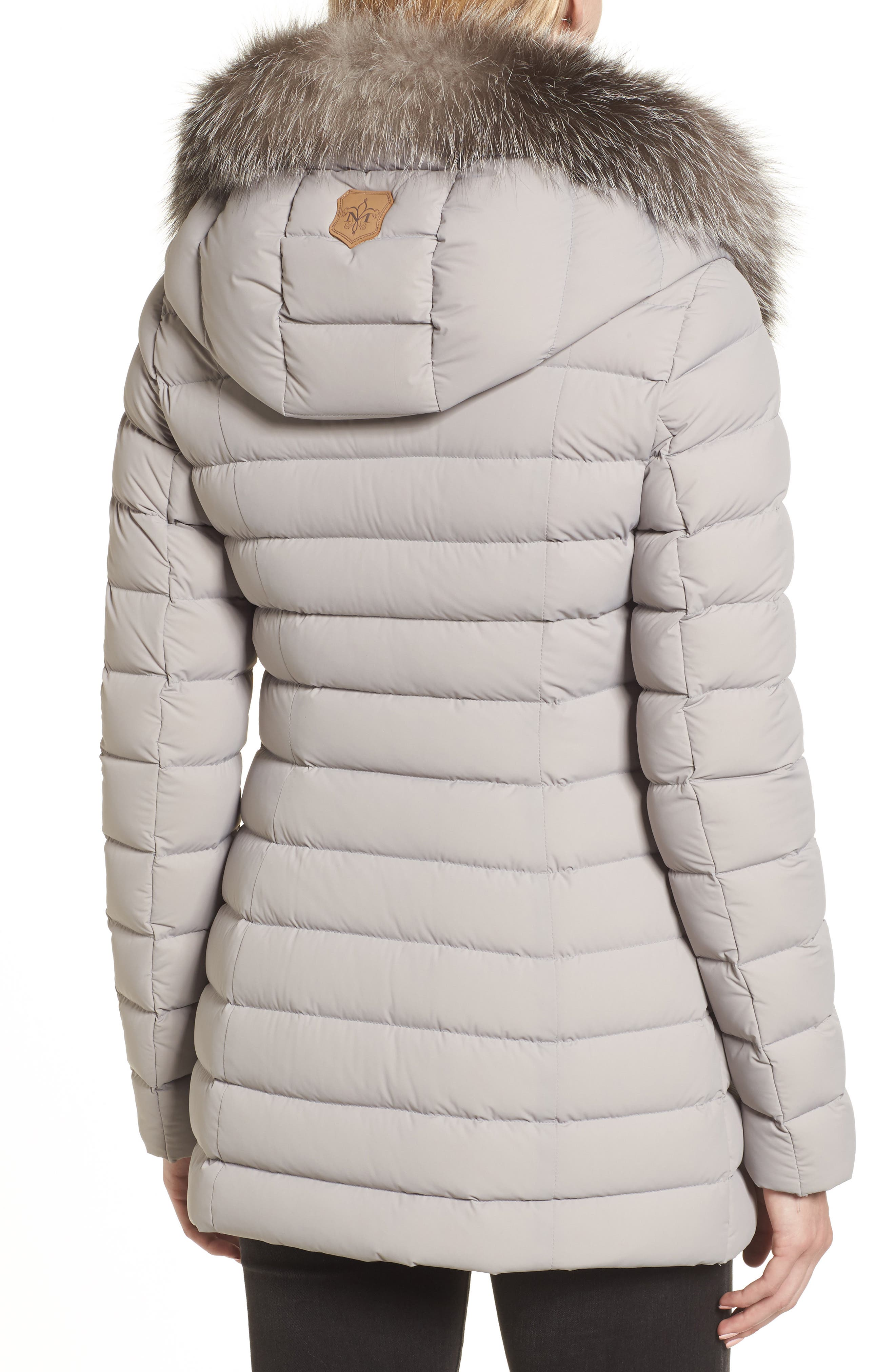 Kadalina Down Jacket with Genuine Fox Fur Trim,                             Alternate thumbnail 2, color,                             082
