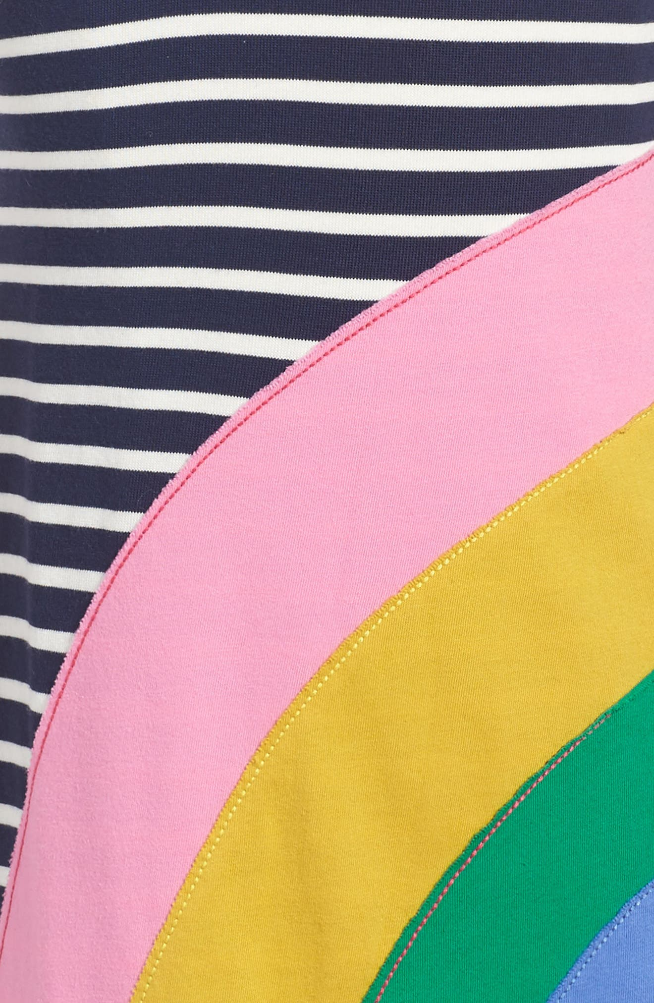 Fun Appliqué Jersey Dress,                             Alternate thumbnail 3, color,                             414