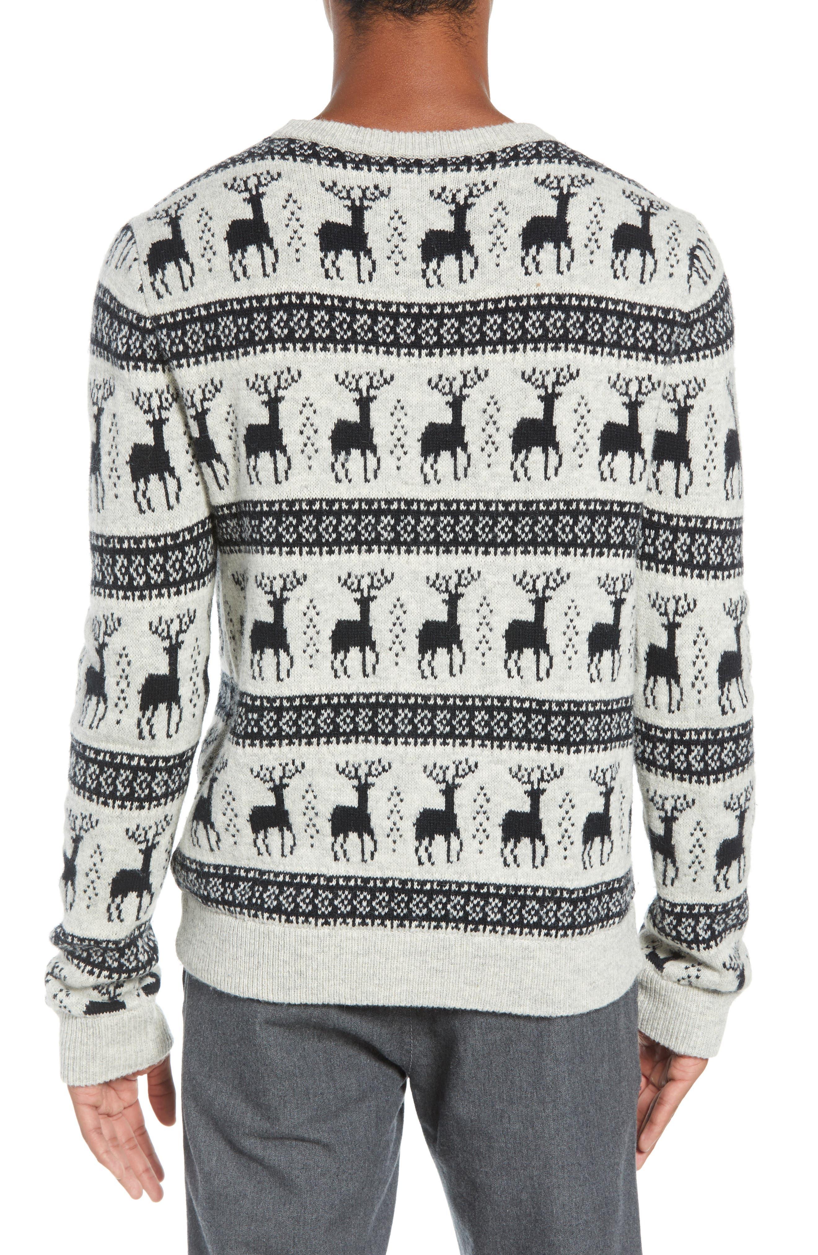 Cedar Slim Fit Crewneck Sweater,                             Alternate thumbnail 2, color,                             LIGHT HEATHER GREY