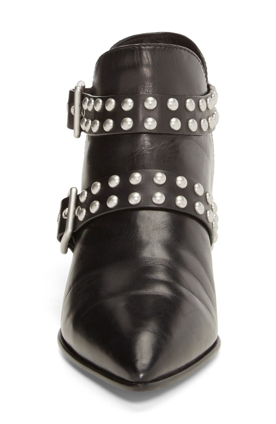 MARC BY MARC JACOBS 'Carroll' Studded Leather Pointy Toe Ankle Boot,                             Alternate thumbnail 2, color,                             001