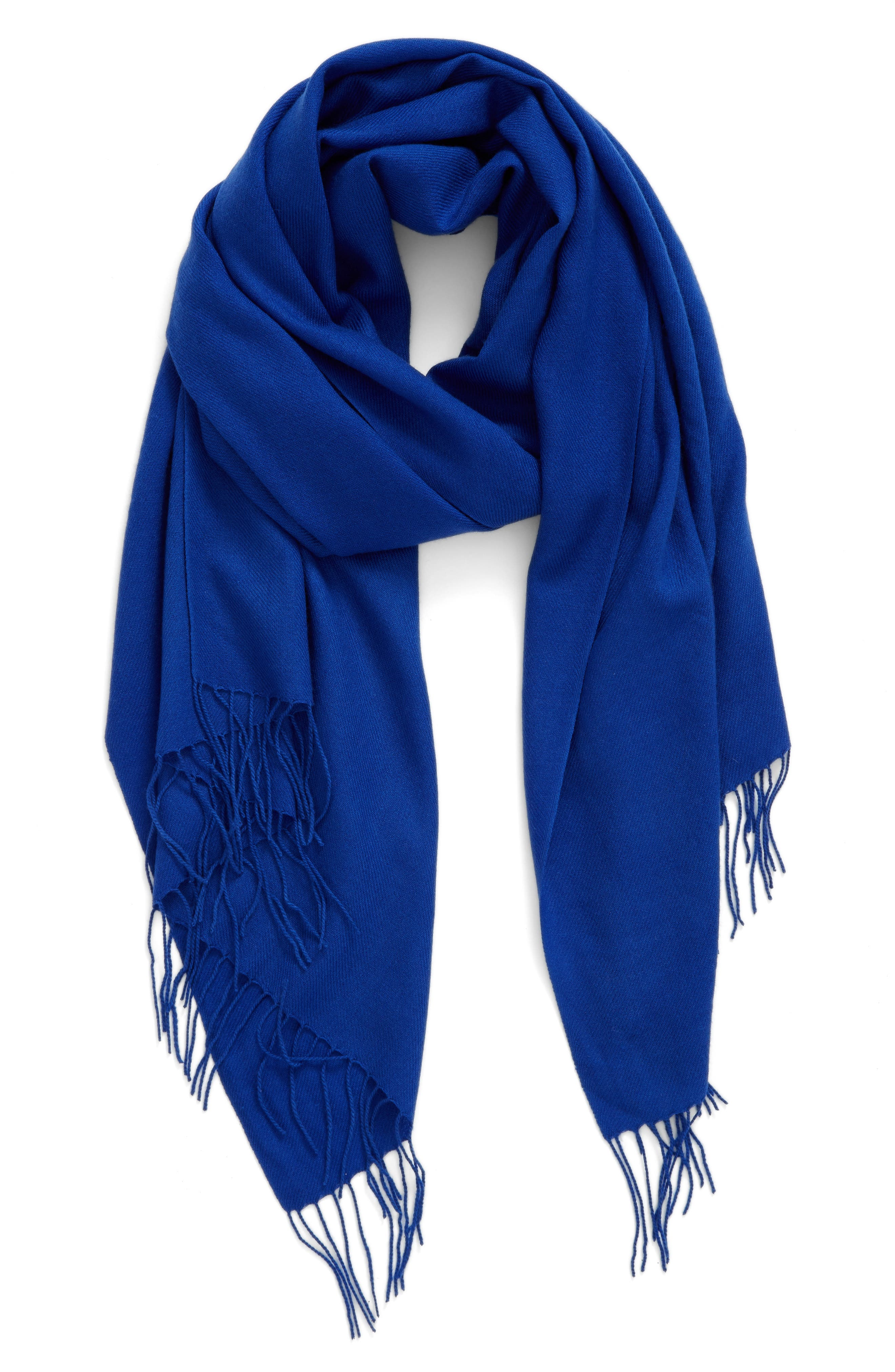 Tissue Weight Wool & Cashmere Scarf,                             Main thumbnail 29, color,