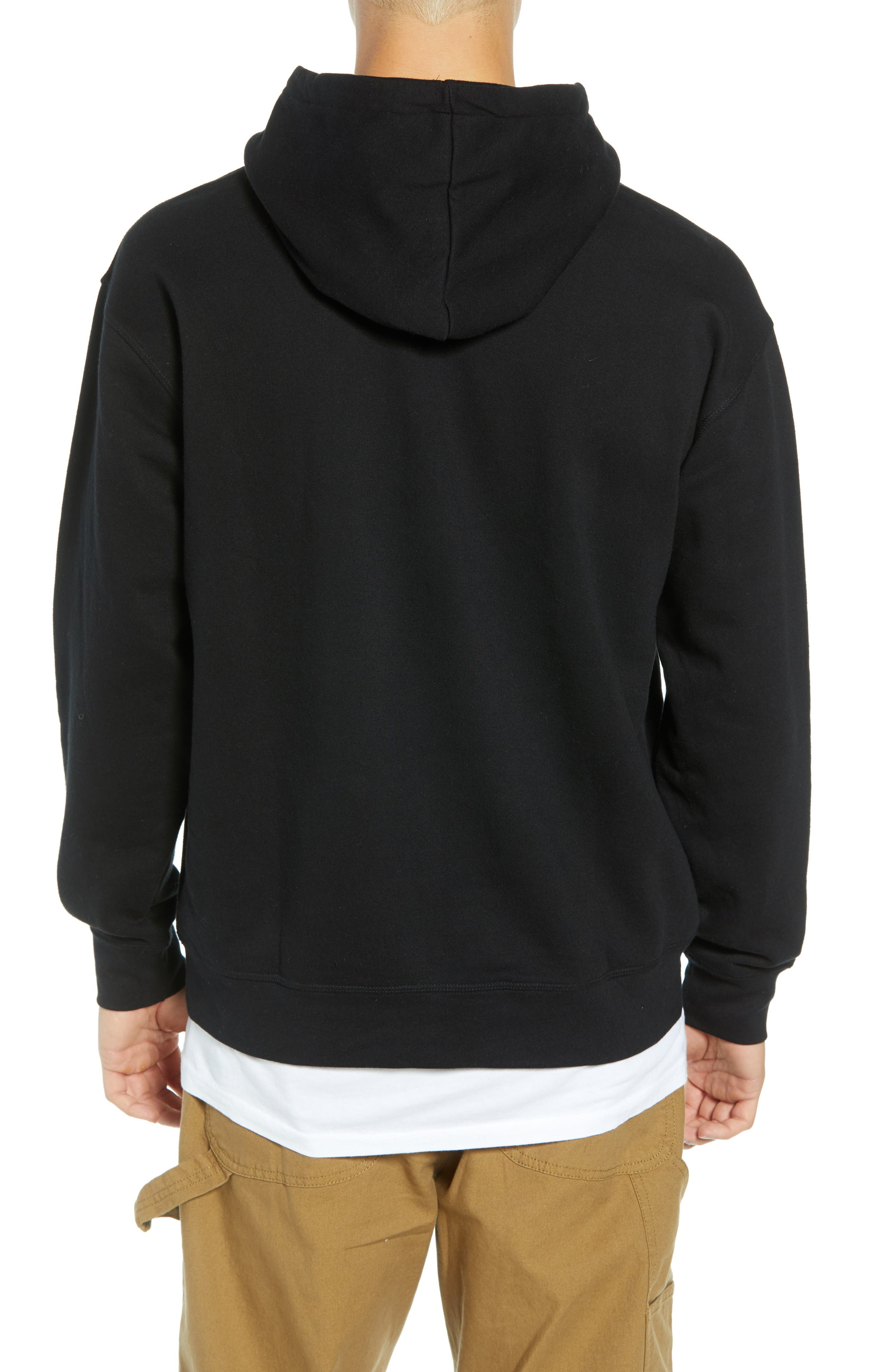 Anyway Hooded Sweatshirt,                             Alternate thumbnail 2, color,                             001