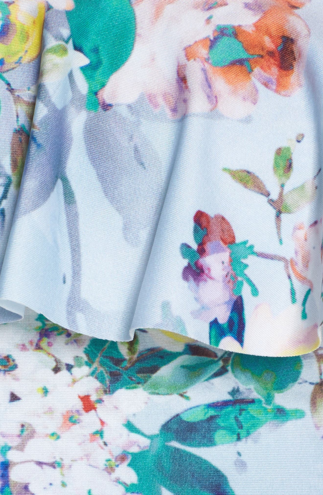 Femme Floral Ruffle Bikini Top,                             Alternate thumbnail 6, color,                             407