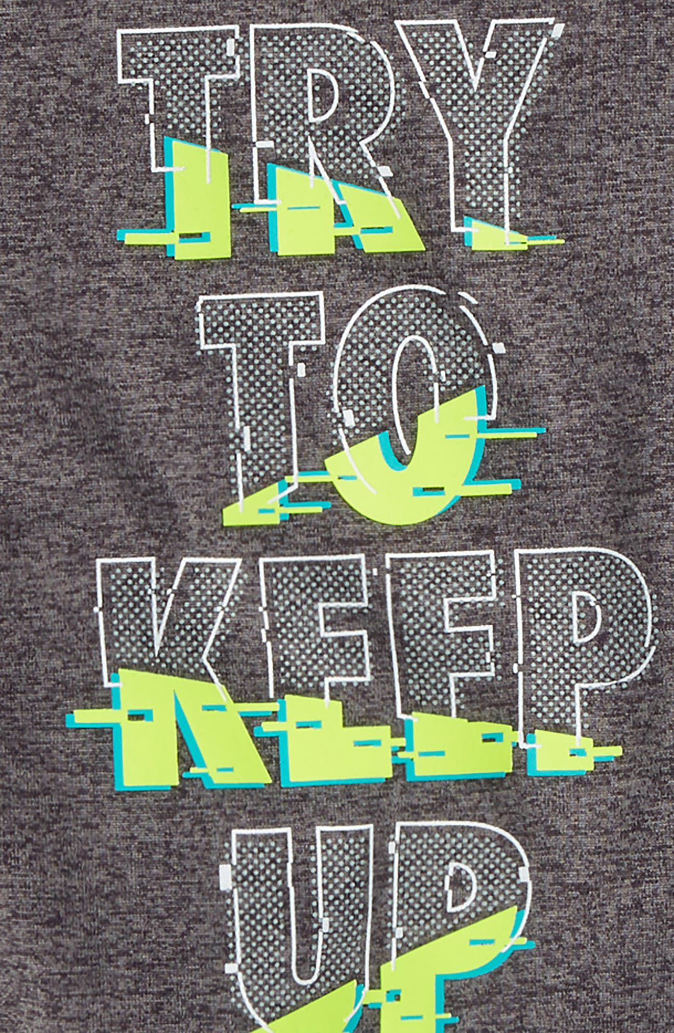 Try To Keep Up Graphic T-Shirt & Shorts Set,                             Alternate thumbnail 2, color,                             CARBON HEATHER